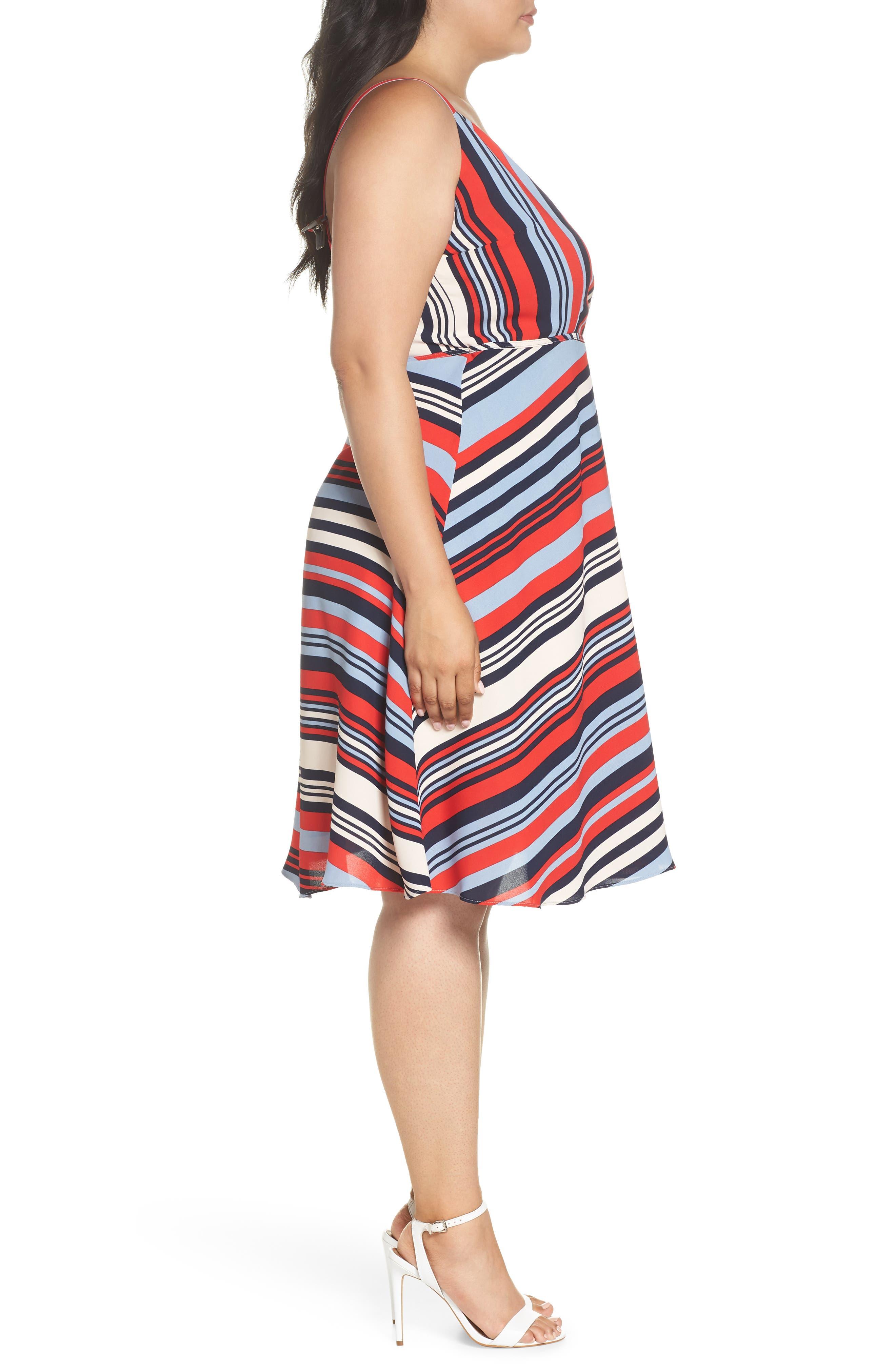Milan Stripe Wrap Dress,                             Alternate thumbnail 3, color,