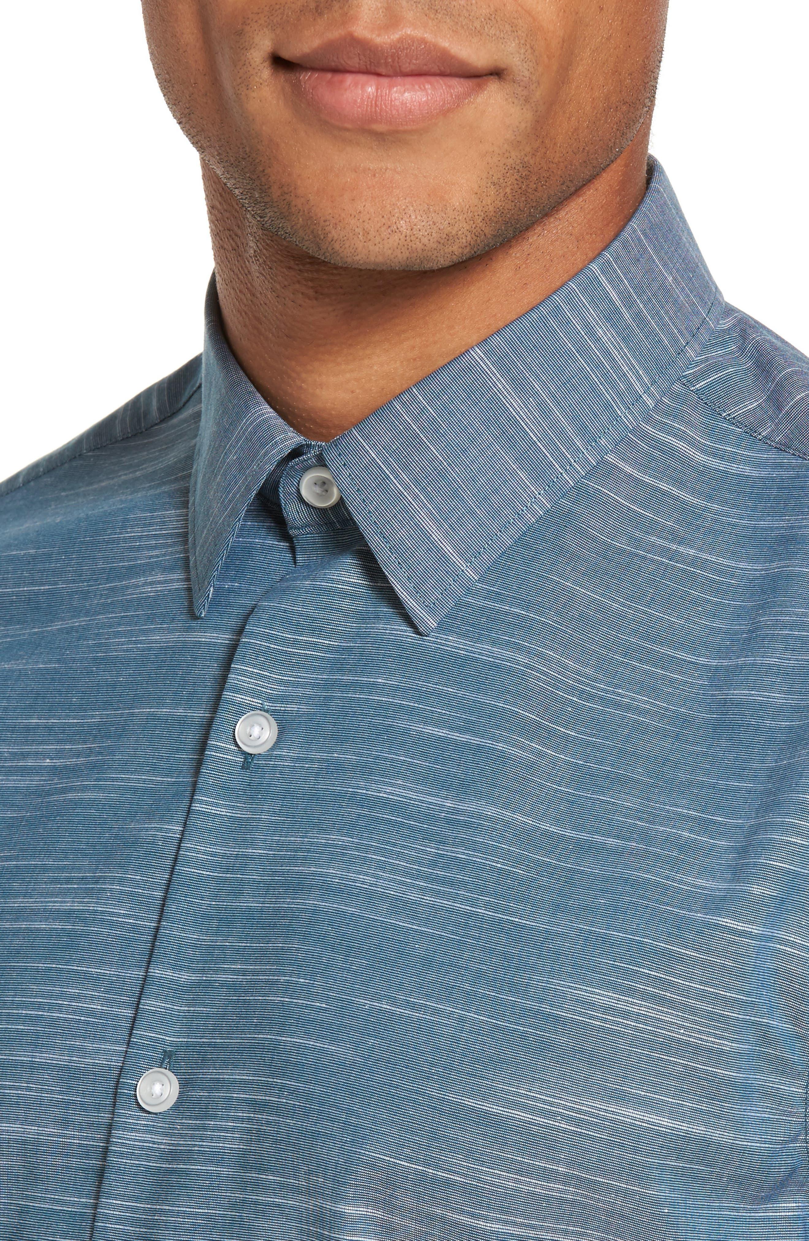 Calilbrate Slim Fit Slub Woven Shirt,                             Alternate thumbnail 10, color,