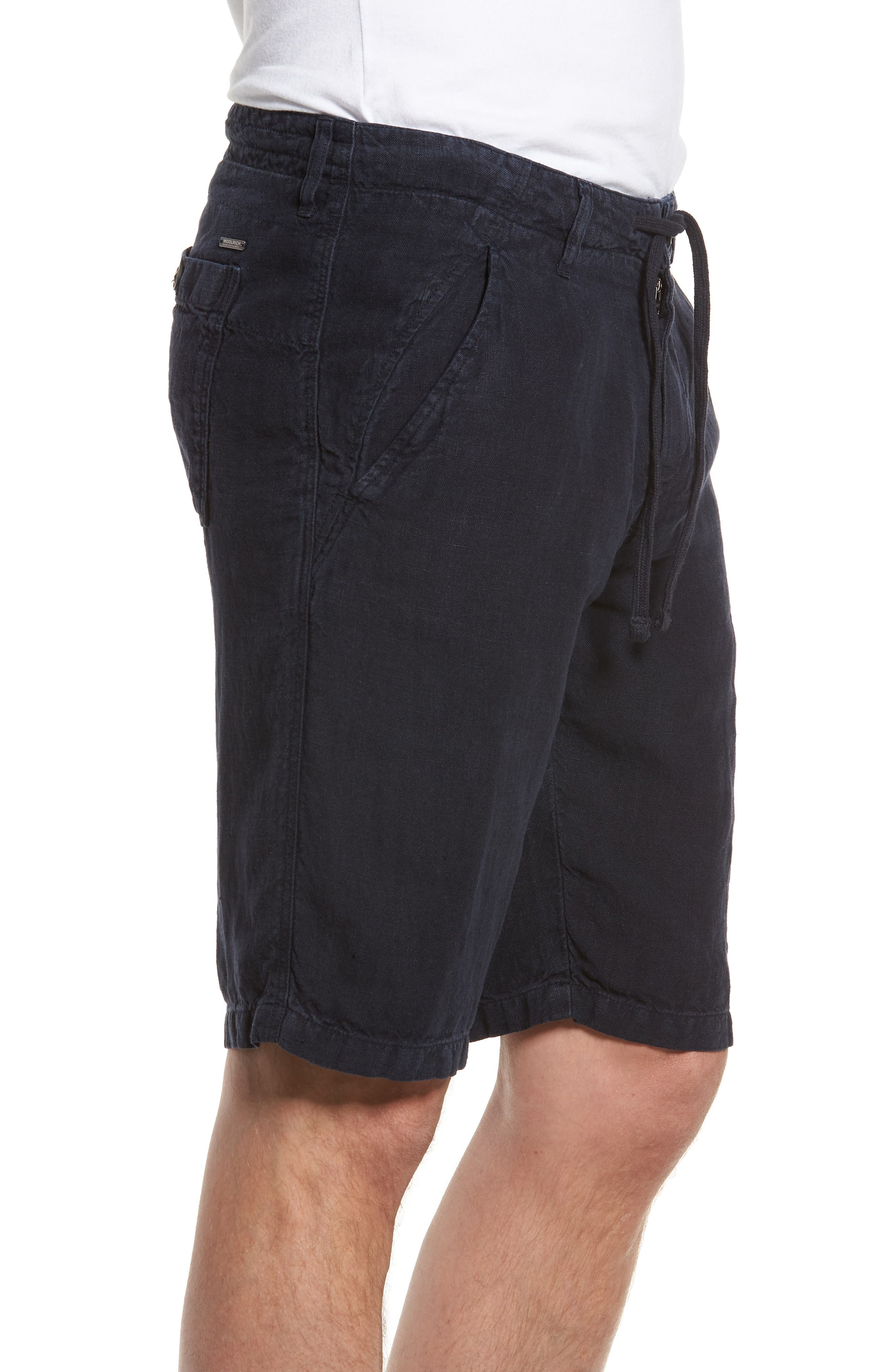 & Bros. Linen Shorts,                             Alternate thumbnail 3, color,                             400