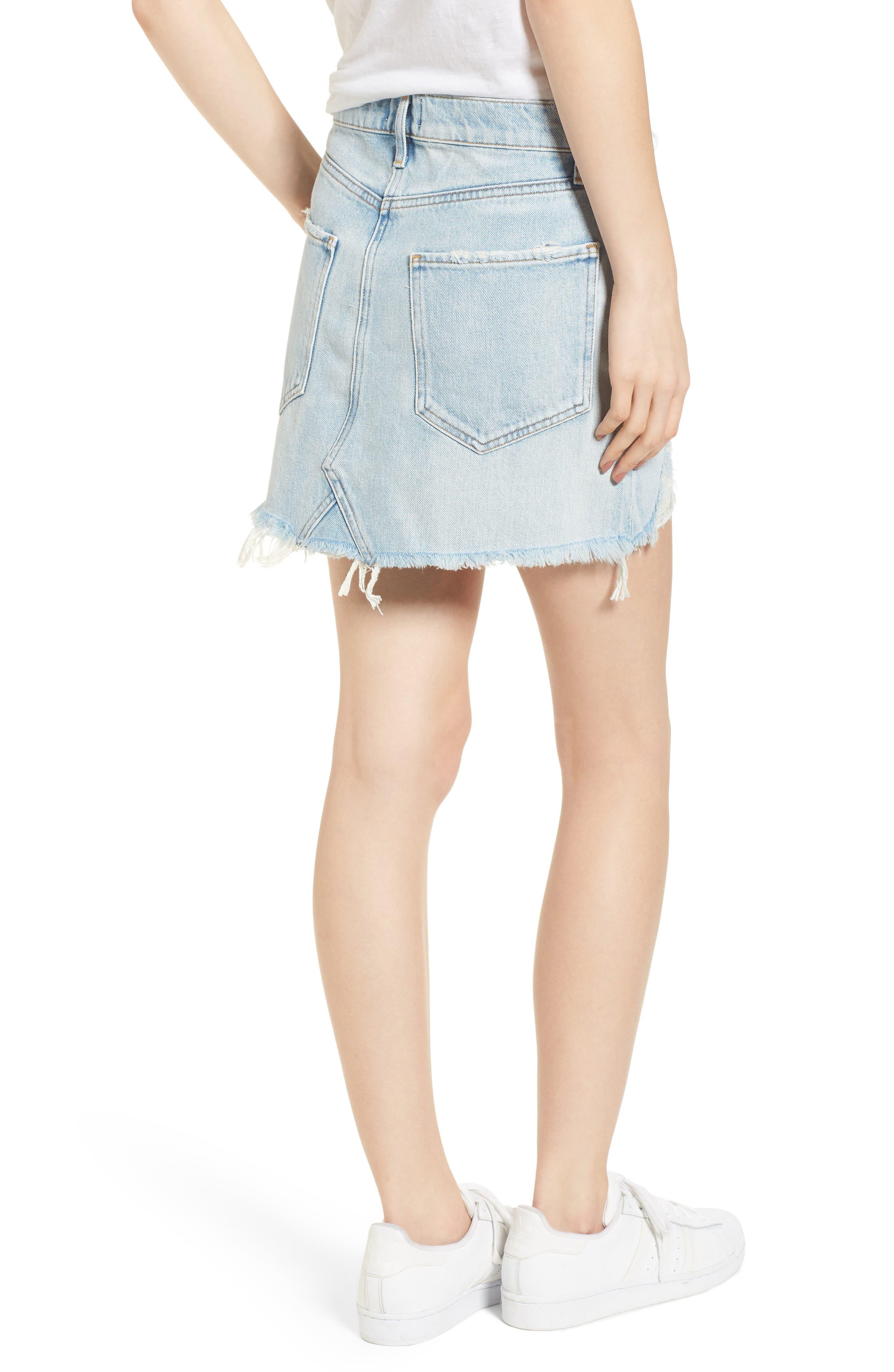 Quinn High Waist Cutoff Denim Miniskirt,                             Alternate thumbnail 2, color,                             VEGA