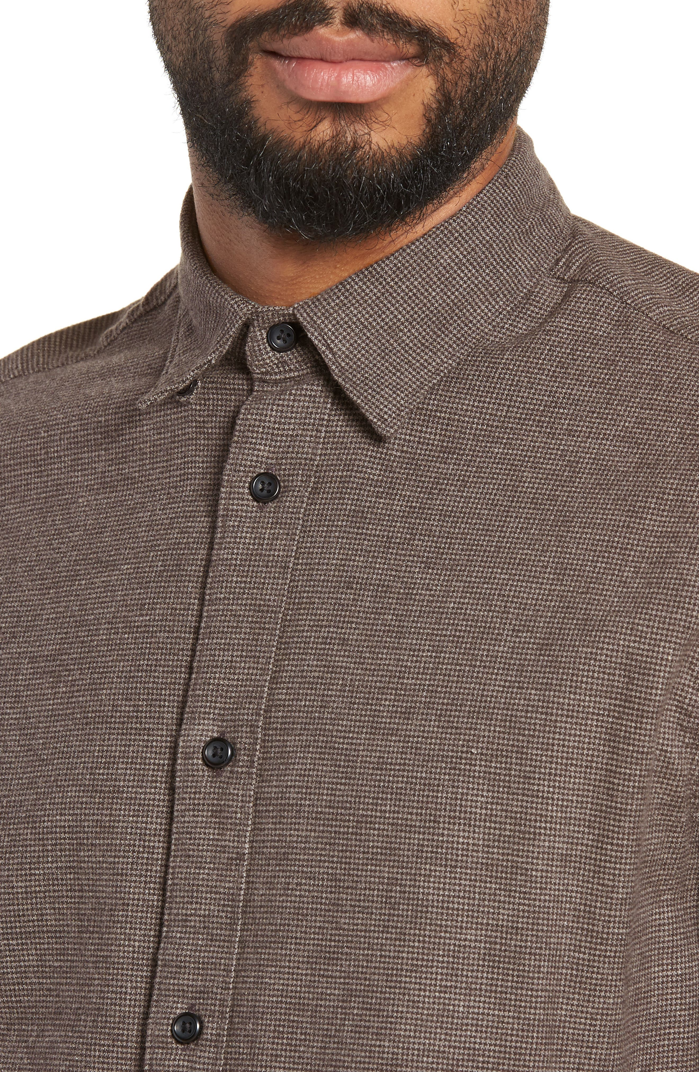 Lucas Houndstooth Check Sport Shirt,                             Alternate thumbnail 2, color,                             HOUNDSTOOTH