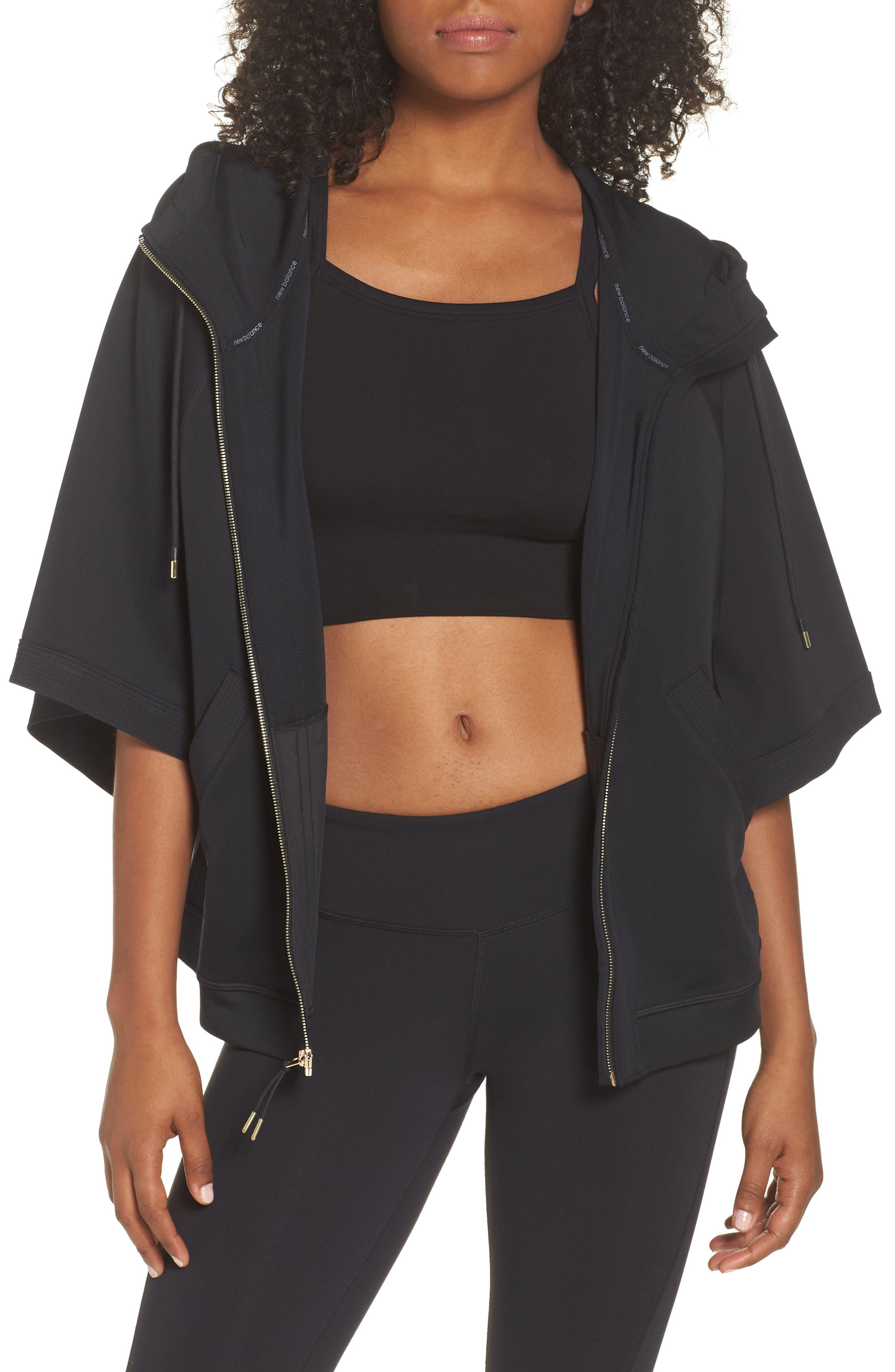 Captivate Kimono Sweatshirt,                         Main,                         color, BLACK