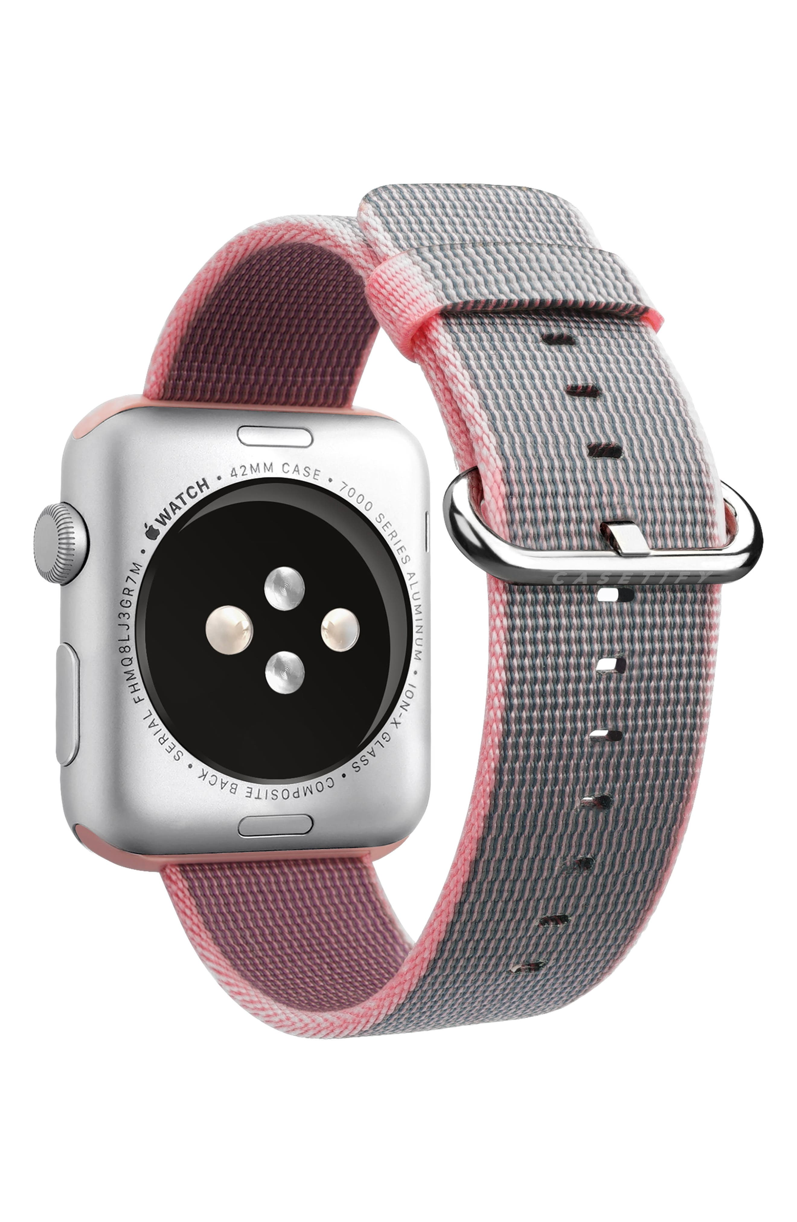 Nylon Apple Watch Strap, 38mm,                             Alternate thumbnail 20, color,