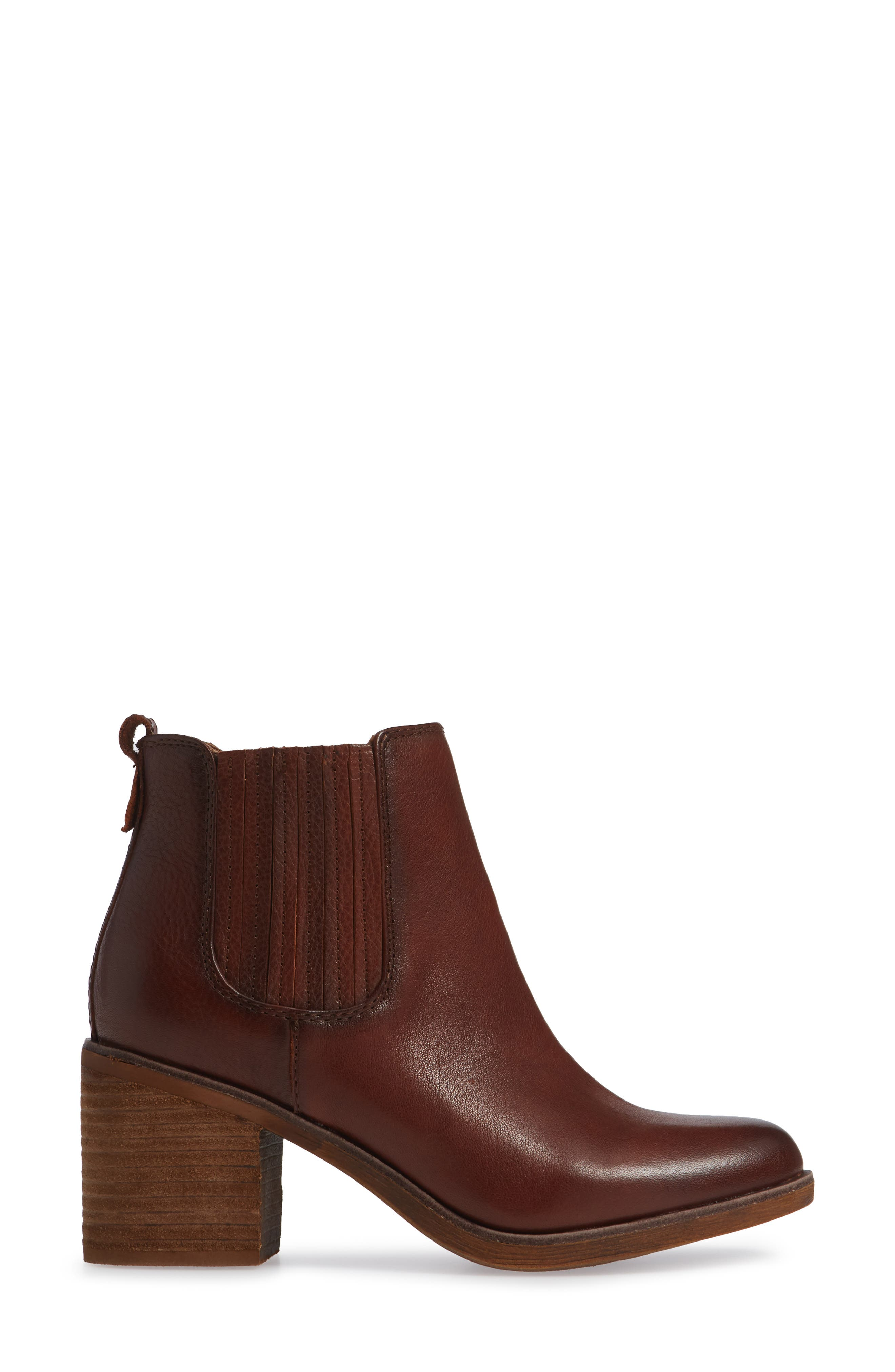 Sadova Chelsea Bootie,                             Alternate thumbnail 3, color,                             WHISKEY LEATHER