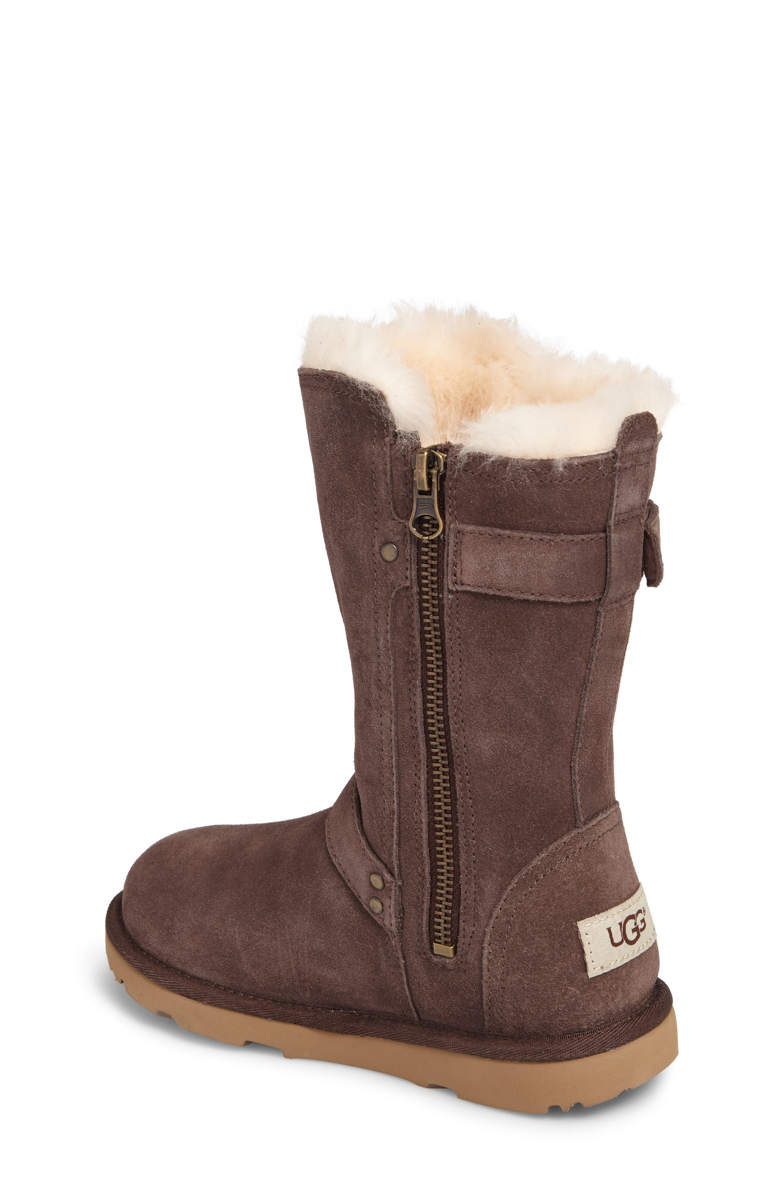 Magda Water Resistant Boot,                             Alternate thumbnail 2, color,                             CHOCOLATE