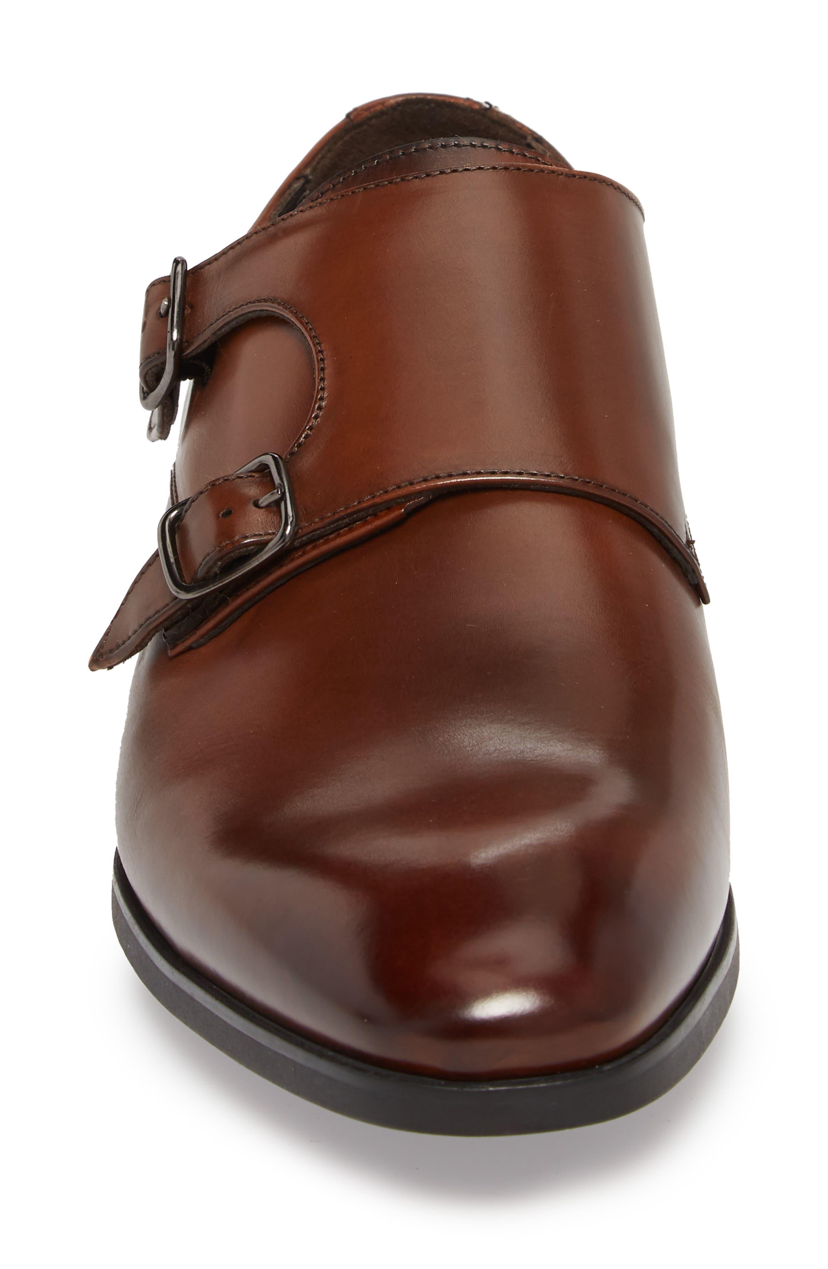 Benjamin Double Monk Strap Shoe,                             Alternate thumbnail 4, color,                             TMORO LEATHER