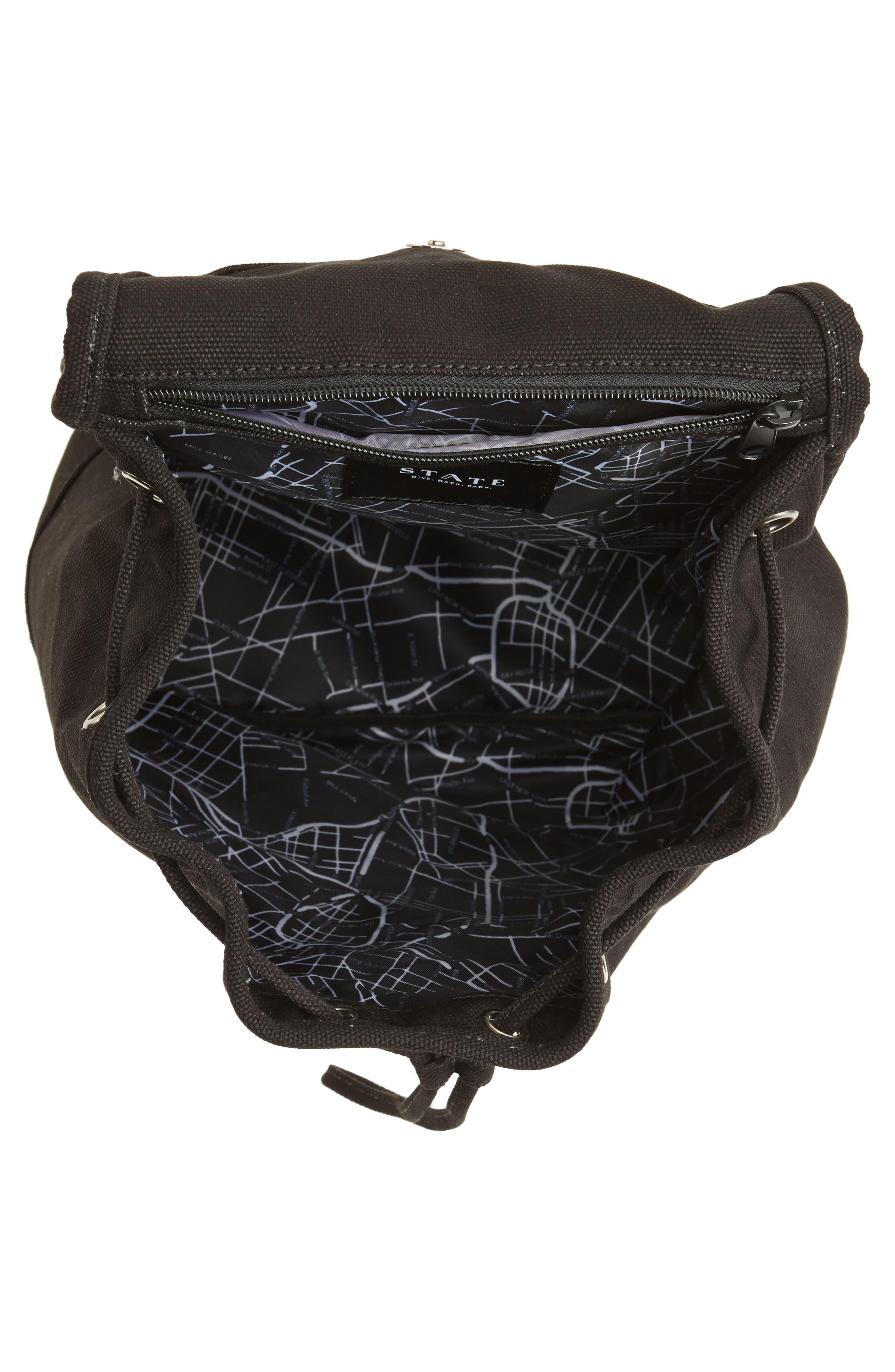 Park Slope Hattie Canvas Backpack,                             Alternate thumbnail 4, color,                             001