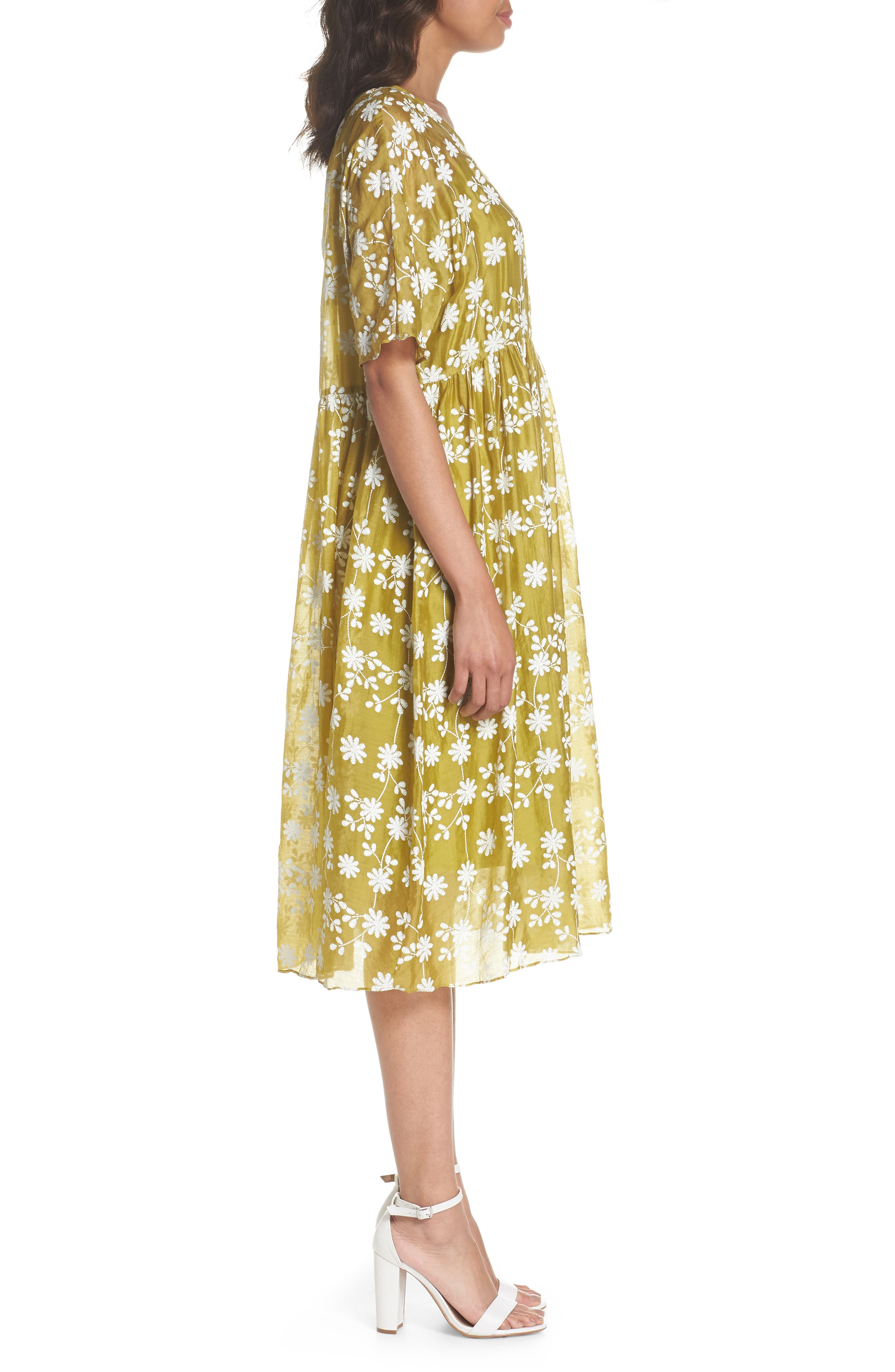 Daisy Picking Floral Dress,                             Alternate thumbnail 3, color,                             700