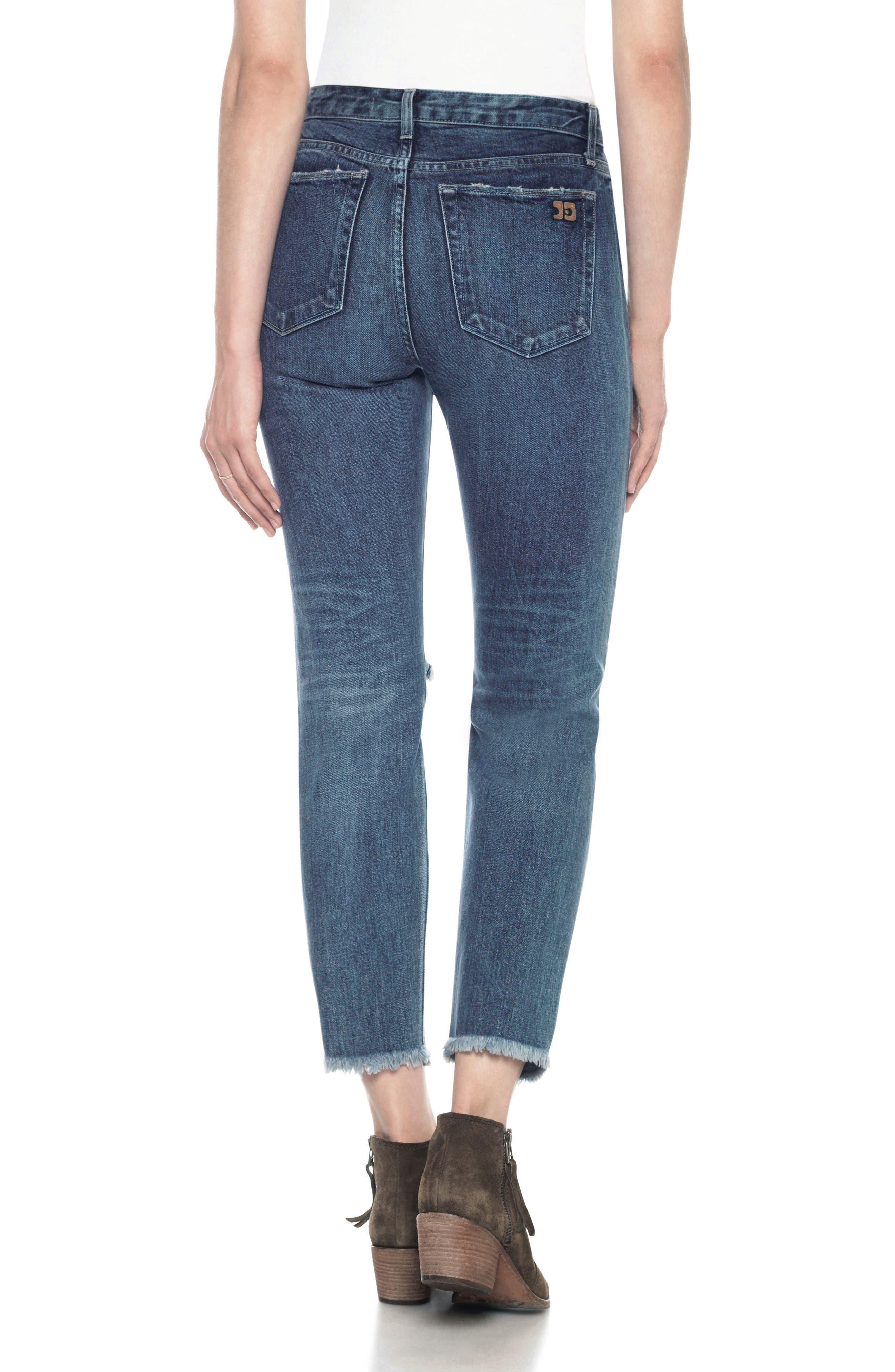 Classics Debbie High Waist Ankle Straight Leg Jeans,                             Alternate thumbnail 2, color,                             410