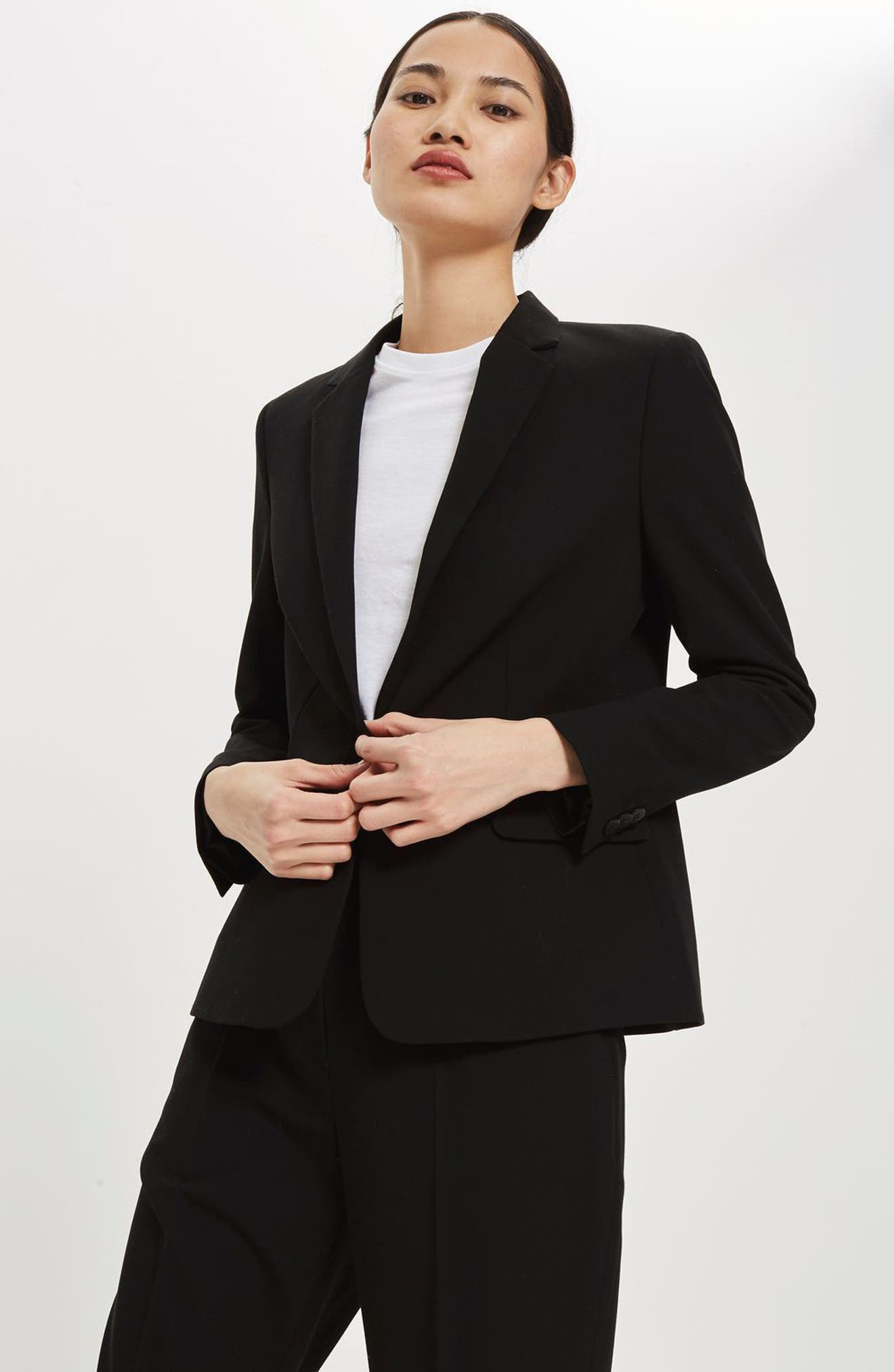 Single Breasted Suit Jacket,                             Alternate thumbnail 5, color,                             001