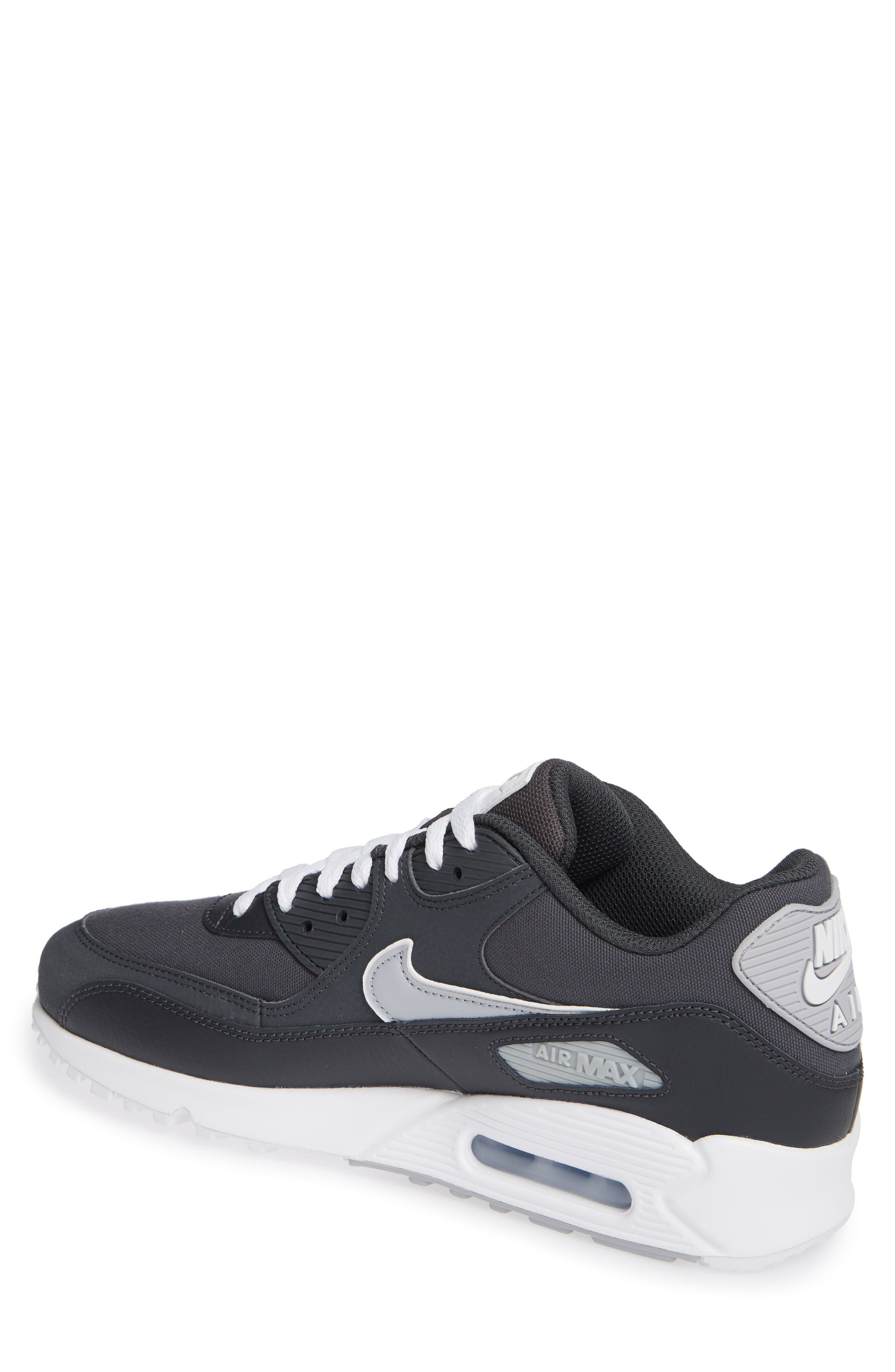 Air Max 90 Essential Sneaker,                             Alternate thumbnail 2, color,                             ANTHRACITE/ WOLF GREY/ WHITE