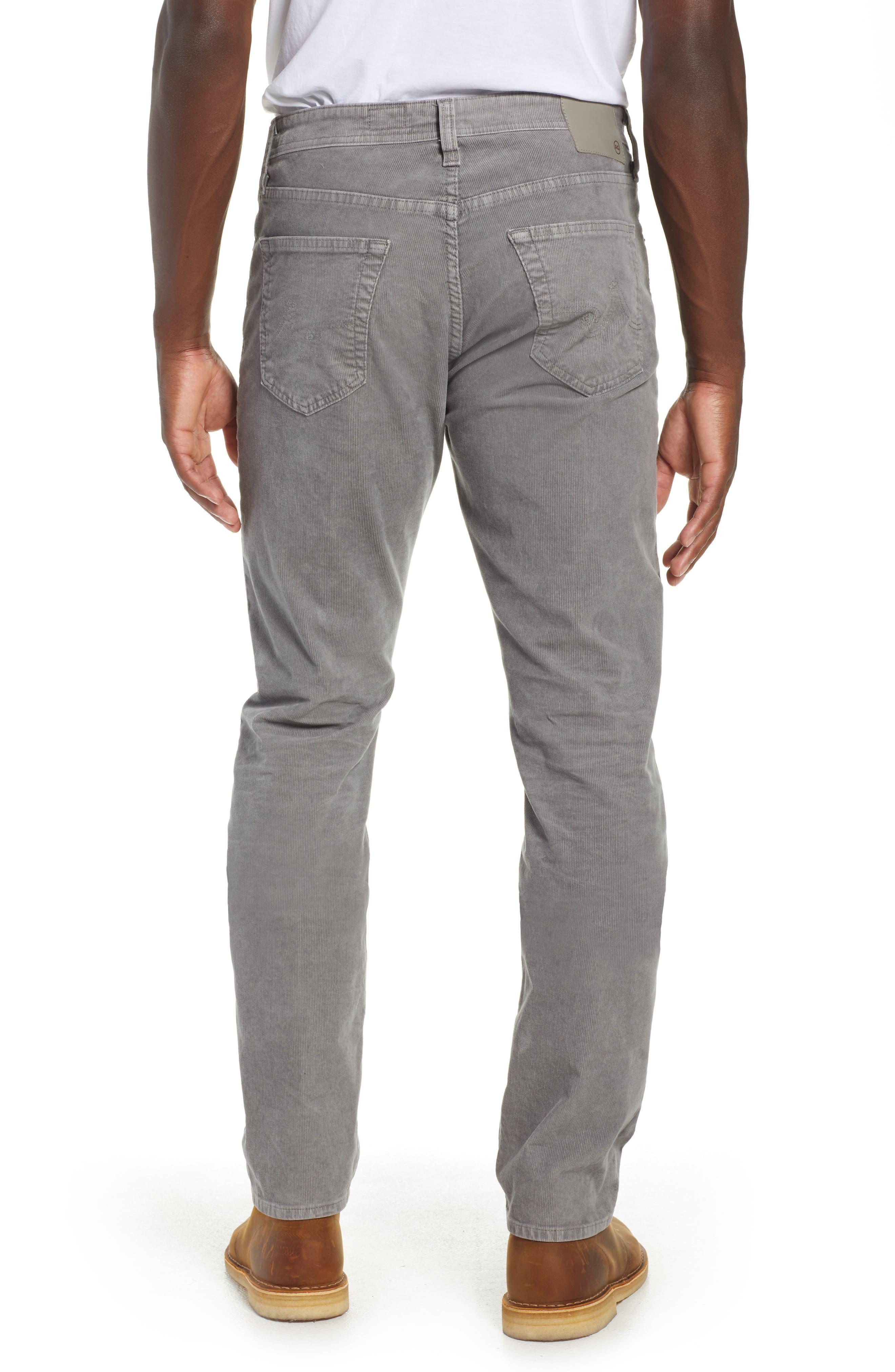 Everett Straight Leg Corduroy Pants,                             Alternate thumbnail 2, color,                             SULFUR AUTUMN FOG