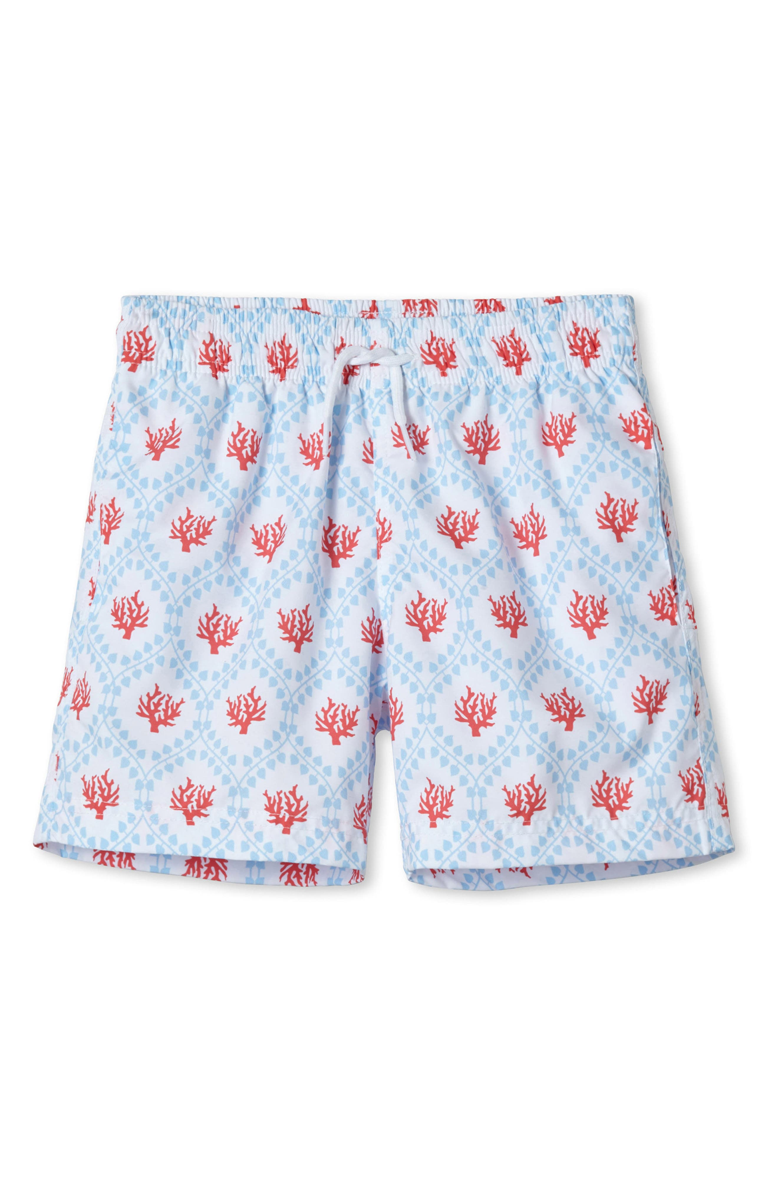 Red Coral Swim Trunks,                             Main thumbnail 1, color,                             400
