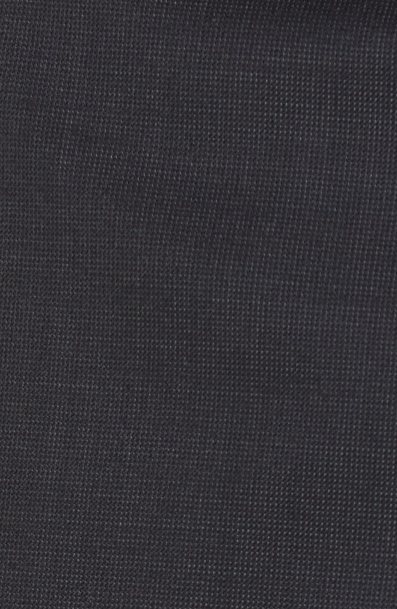 Flat Front Solid Wool Trousers,                             Alternate thumbnail 2, color,                             010