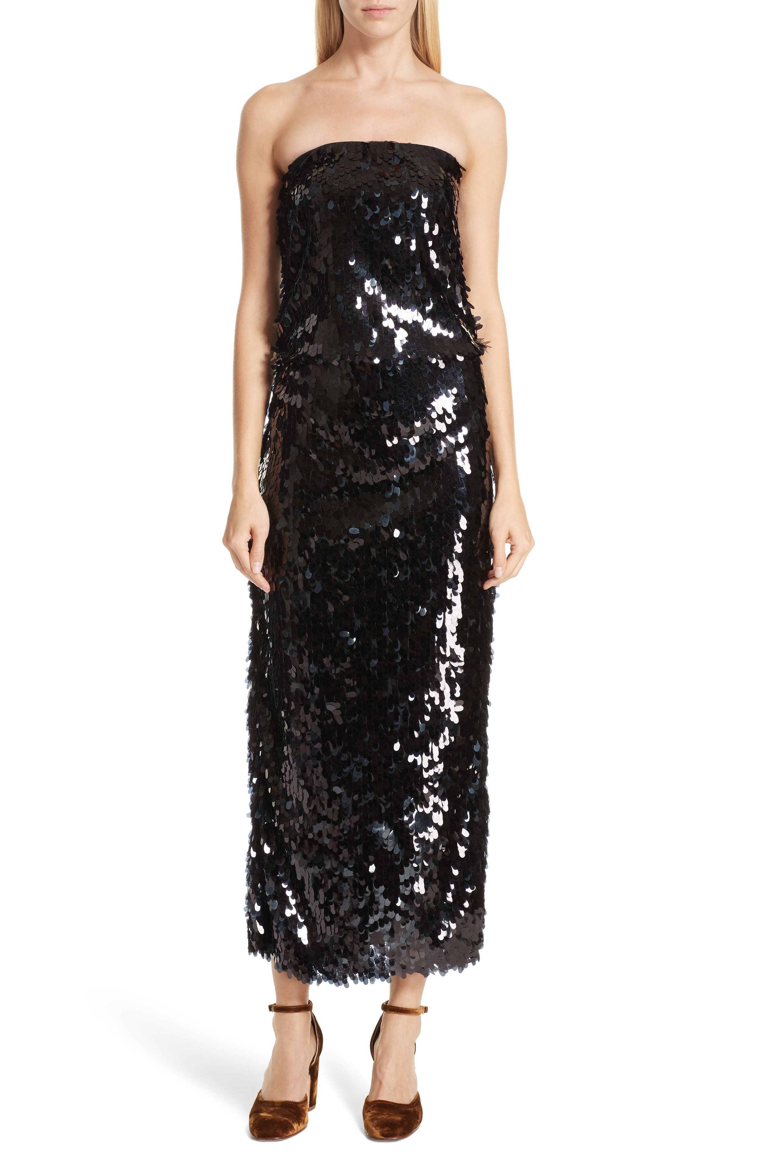 Rachel Comey Destra Strapless Sequin Dress