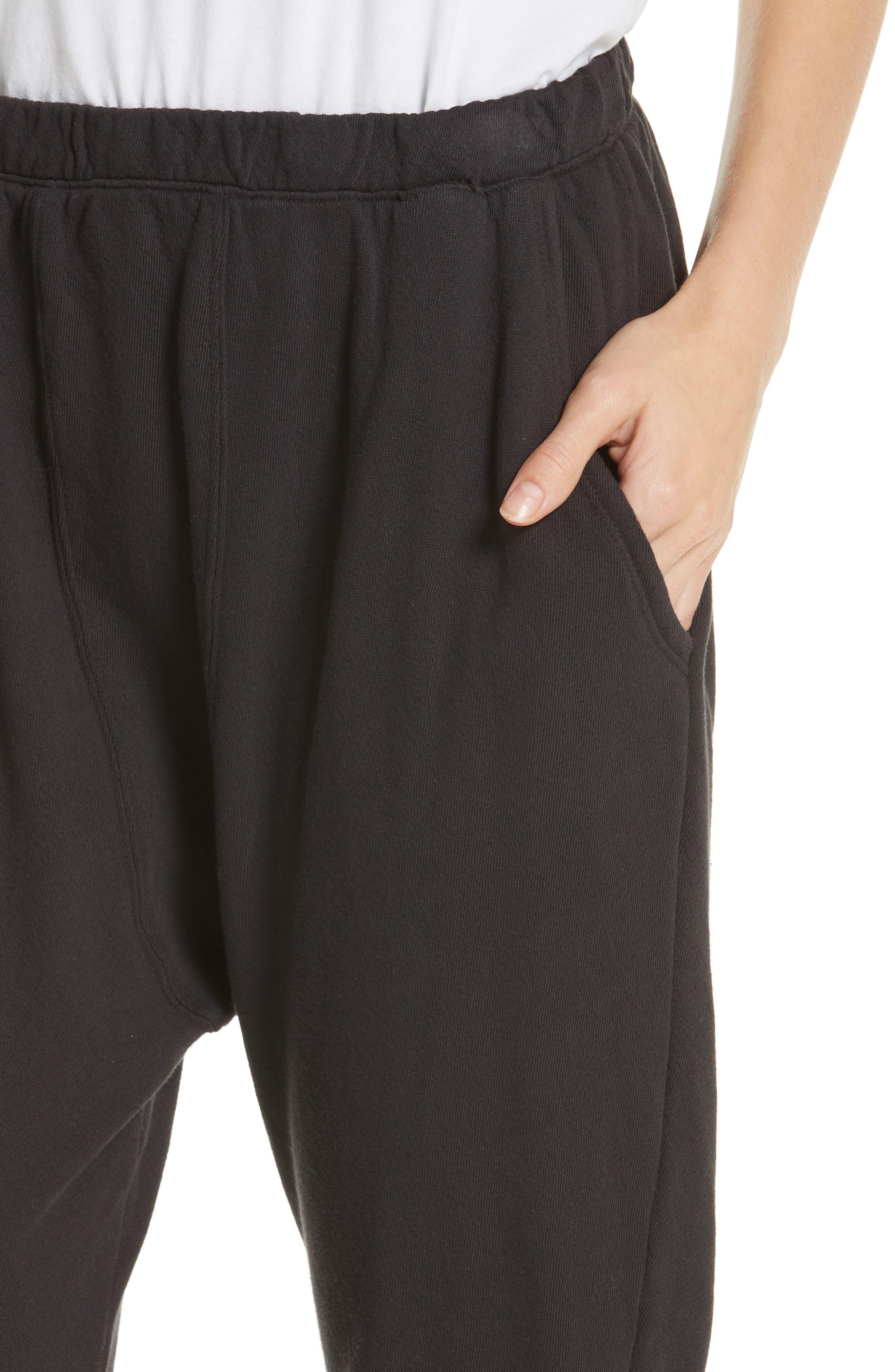 The Pajama Sweatpants,                             Alternate thumbnail 4, color,                             ALMOST BLACK