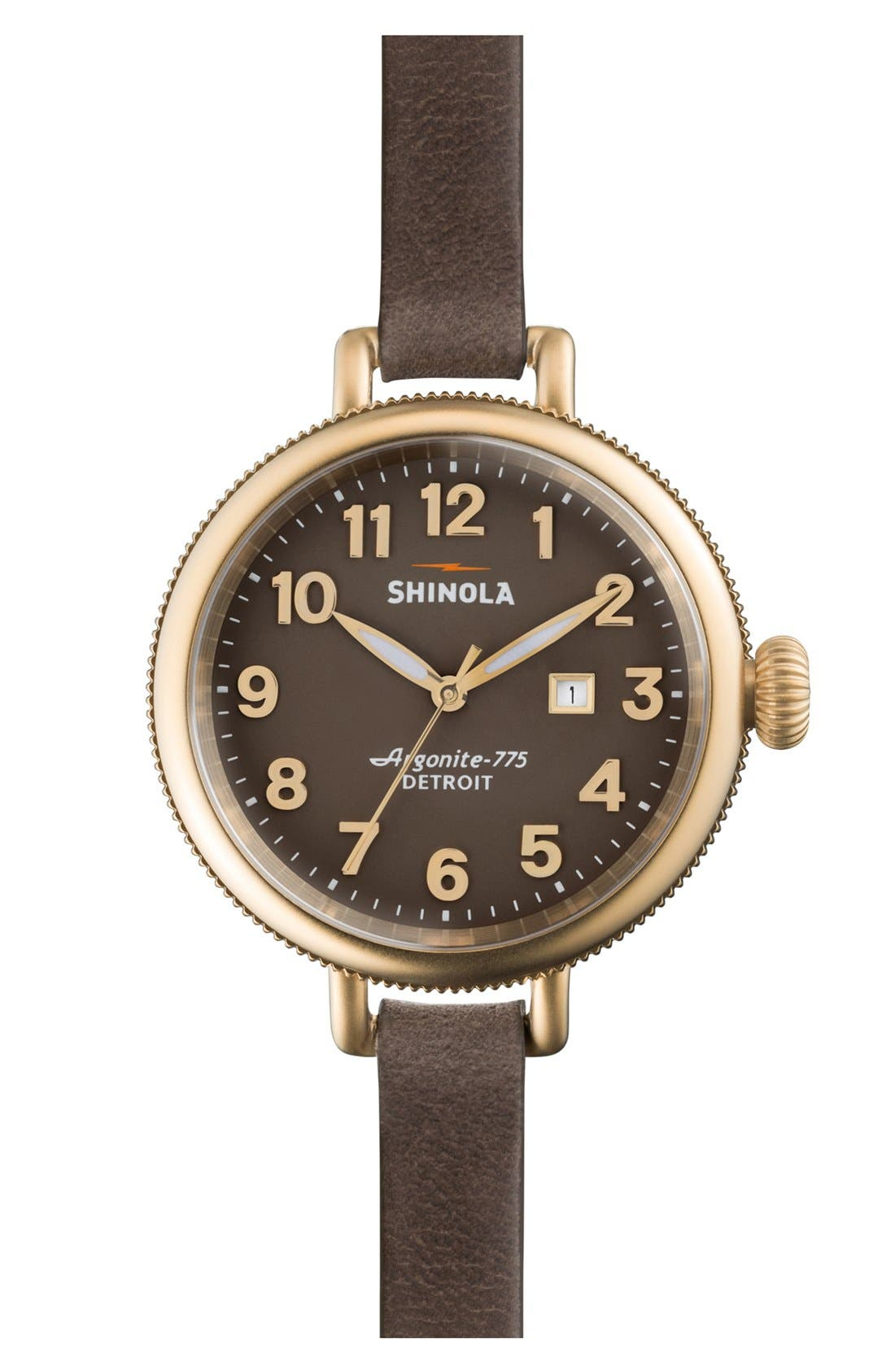 'The Birdy' Double Wrap Leather Strap Watch, 34mm,                             Main thumbnail 4, color,