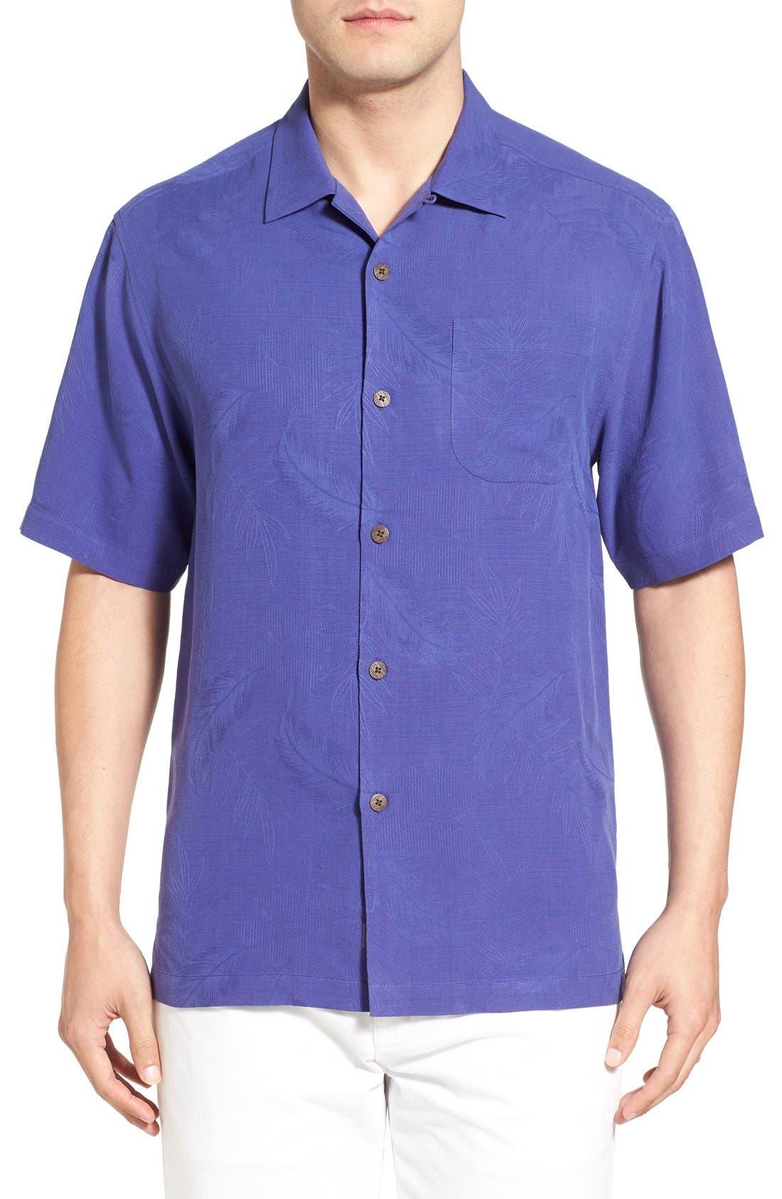 Rio Fronds Short Sleeve Silk Sport Shirt,                             Main thumbnail 14, color,