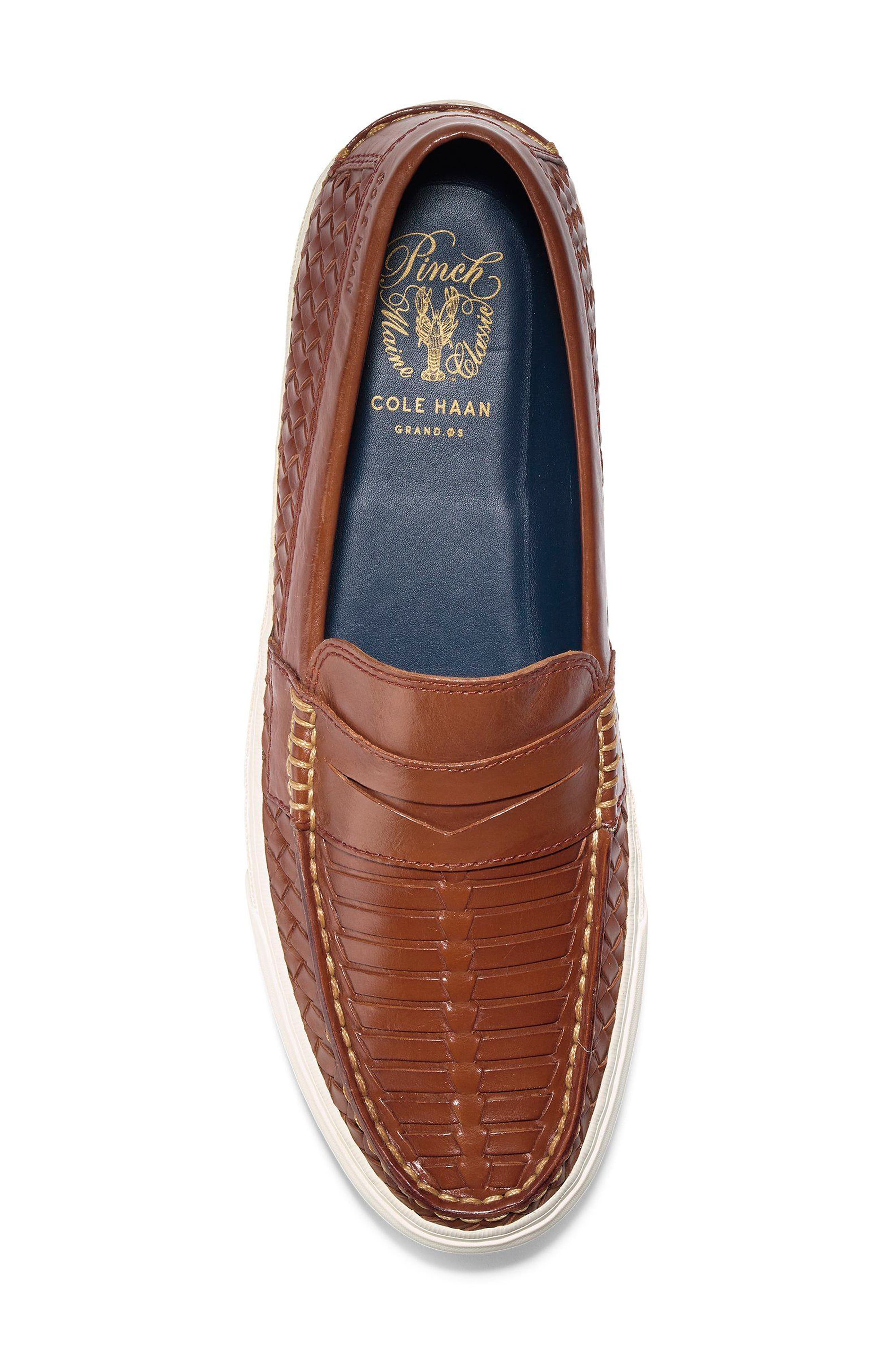 Pinch Weekend LX Huarache Loafer,                             Alternate thumbnail 5, color,                             WOODBURY WOVEN BURNISH
