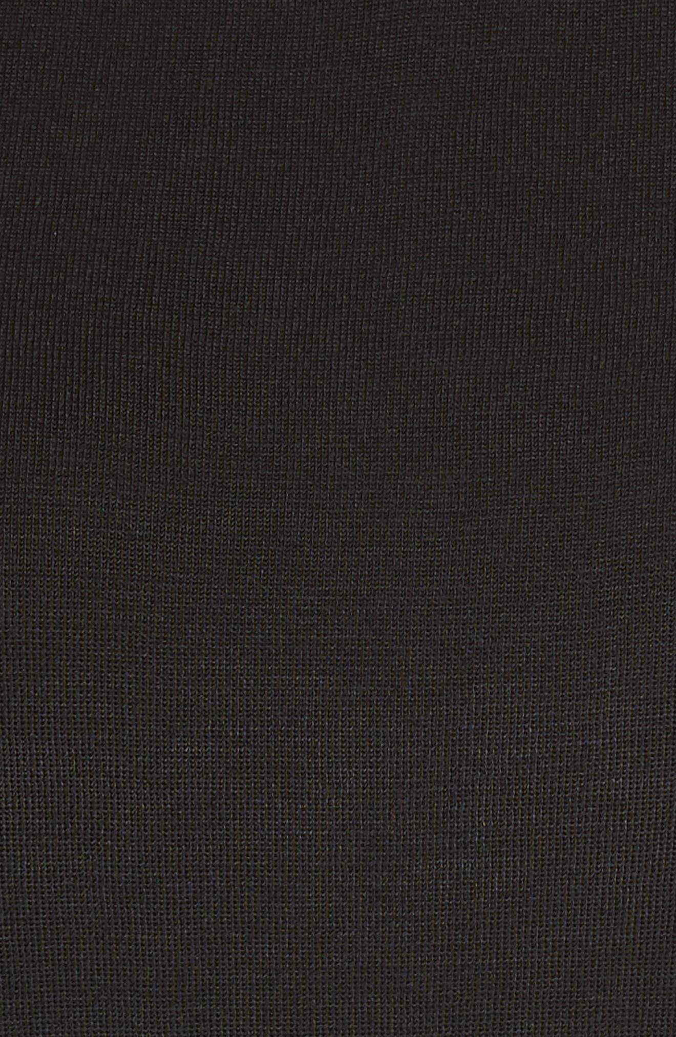 Faux Leather Trim Knit Tank,                             Alternate thumbnail 5, color,                             001