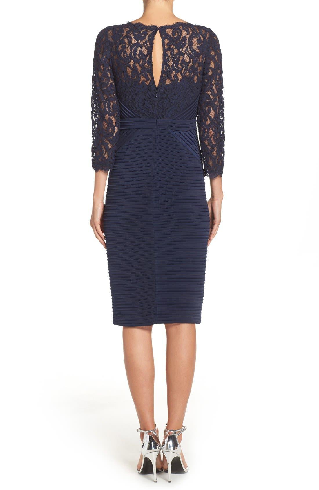 Lace & Jersey Sheath Dress,                             Alternate thumbnail 5, color,                             412
