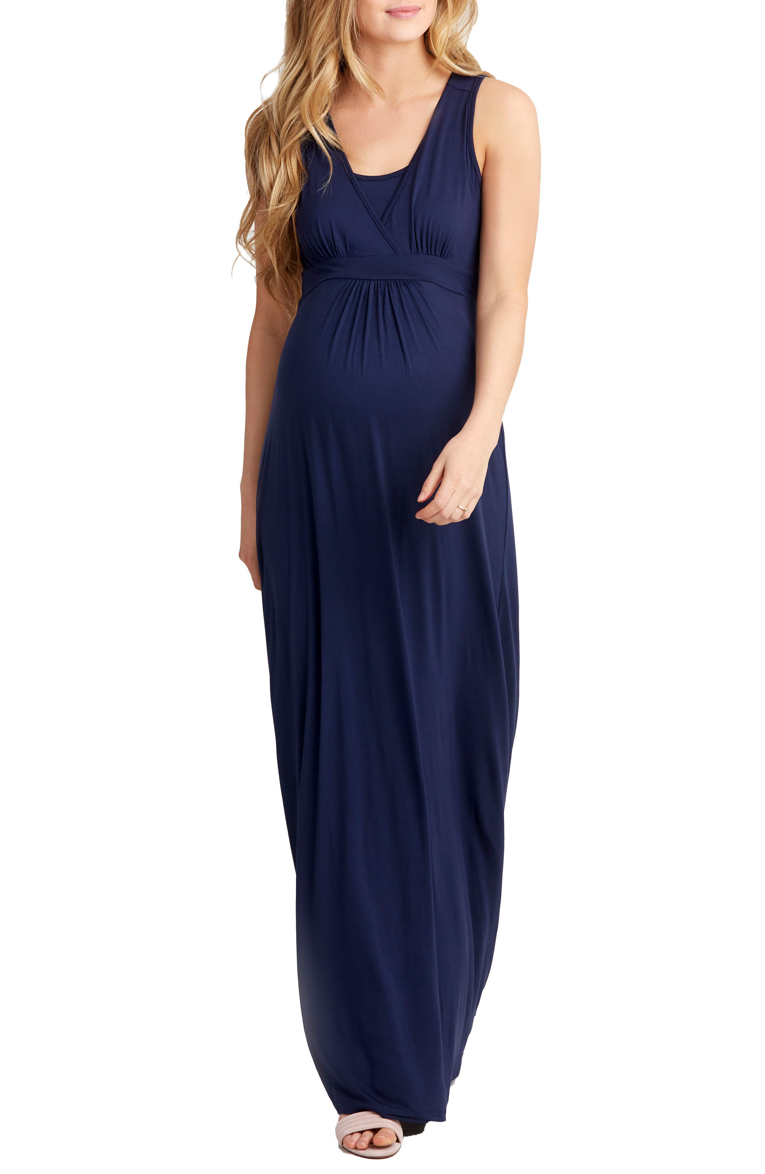 Nom Maternity Hollis Maternity/nursing Maxi Dress