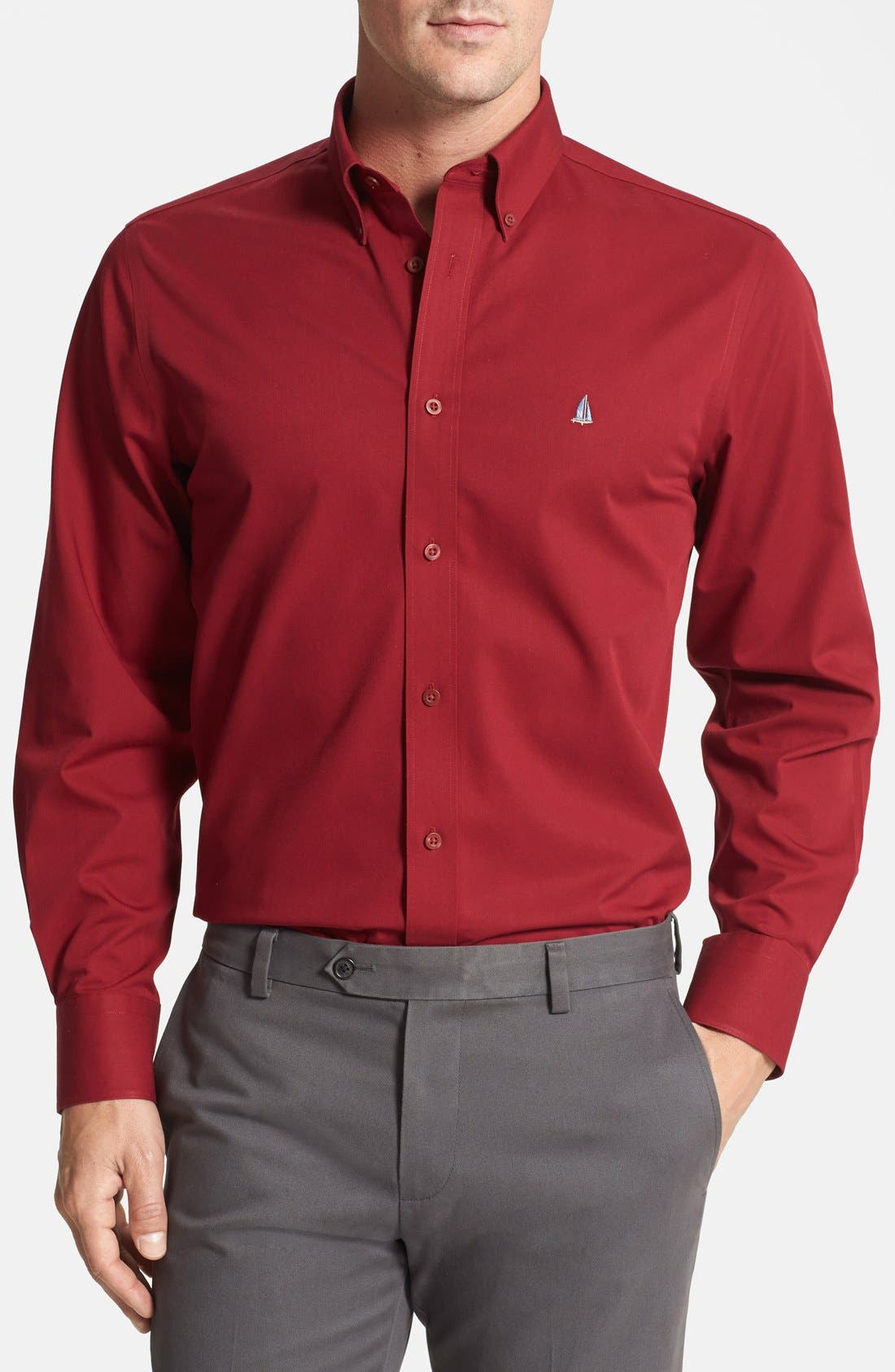 Smartcare<sup>™</sup> Traditional Fit Twill Boat Shirt,                             Main thumbnail 35, color,