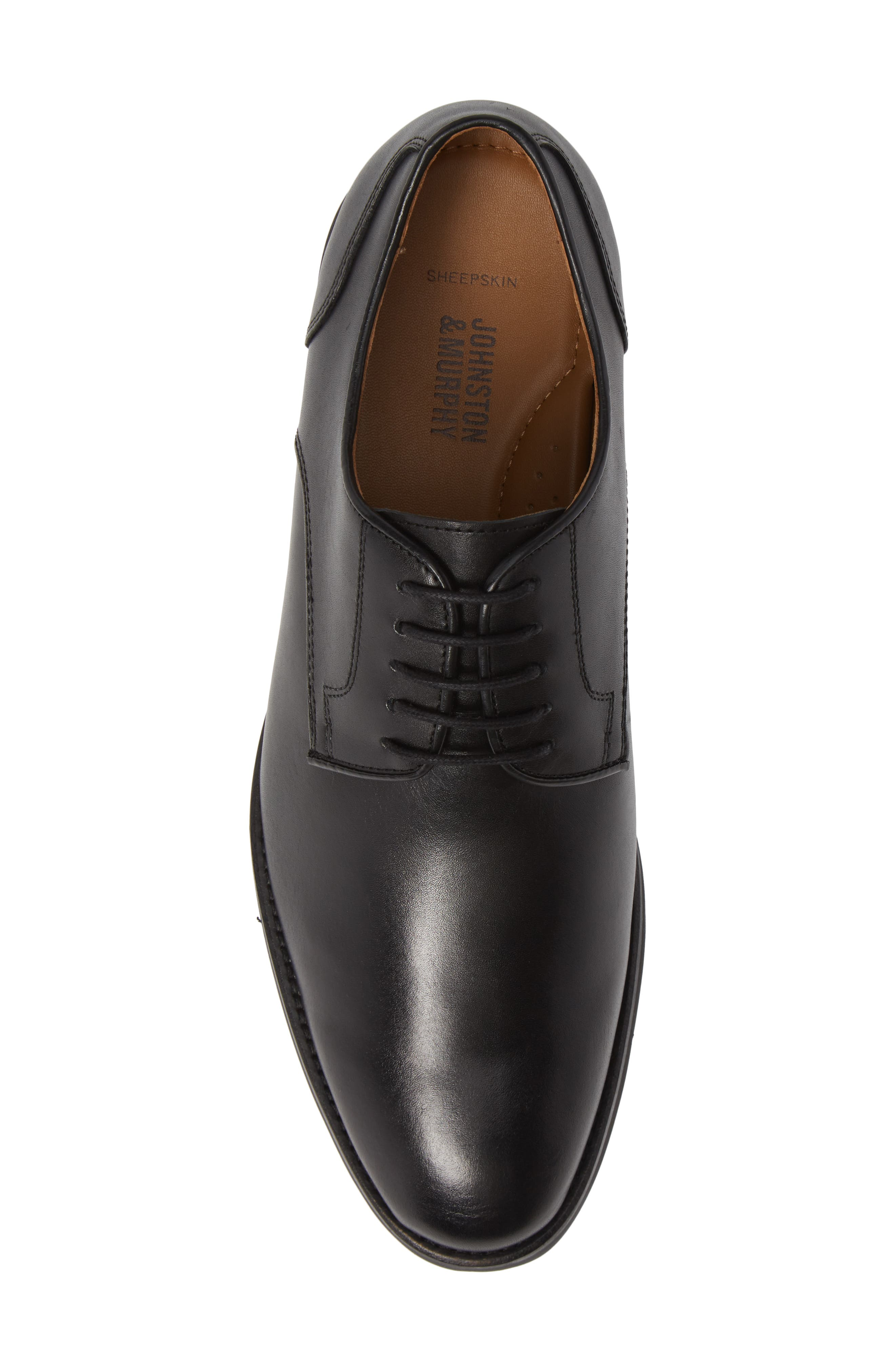 Carlson Derby,                             Alternate thumbnail 5, color,                             BLACK LEATHER