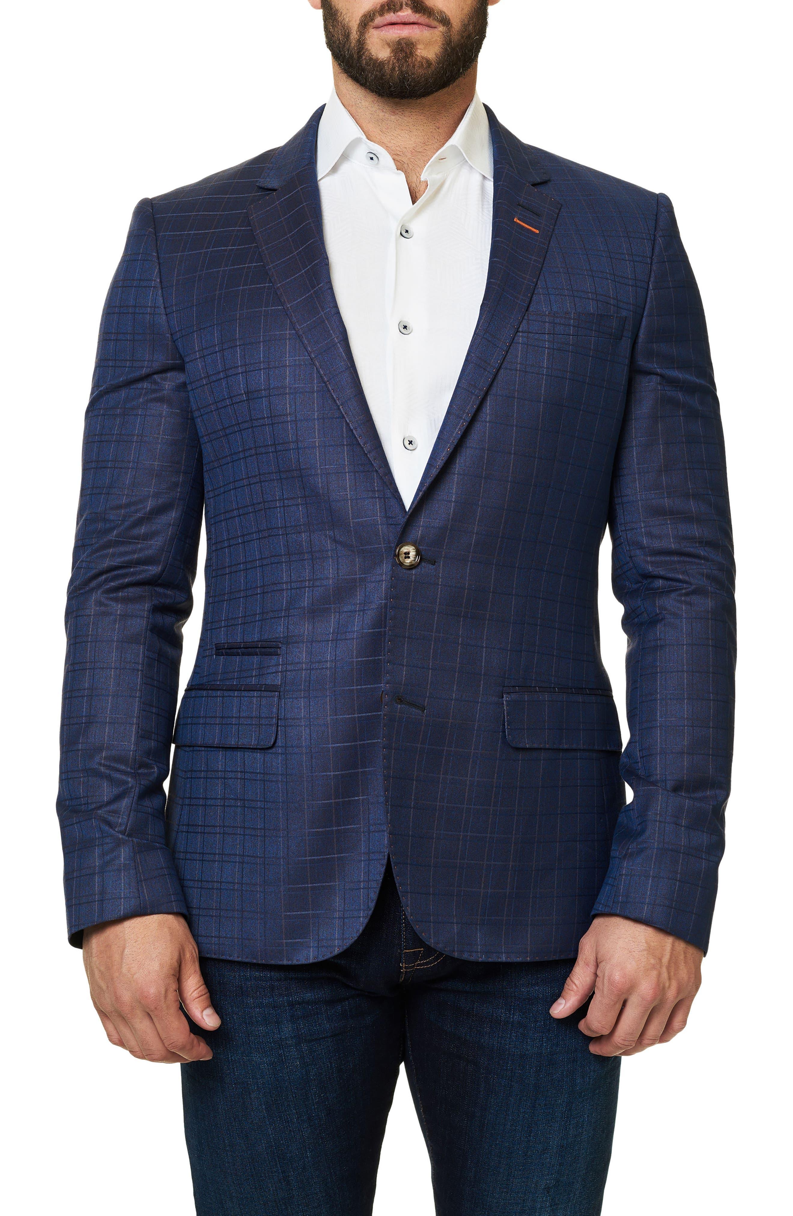 Socrate Plaid Sport Coat,                         Main,                         color, 420
