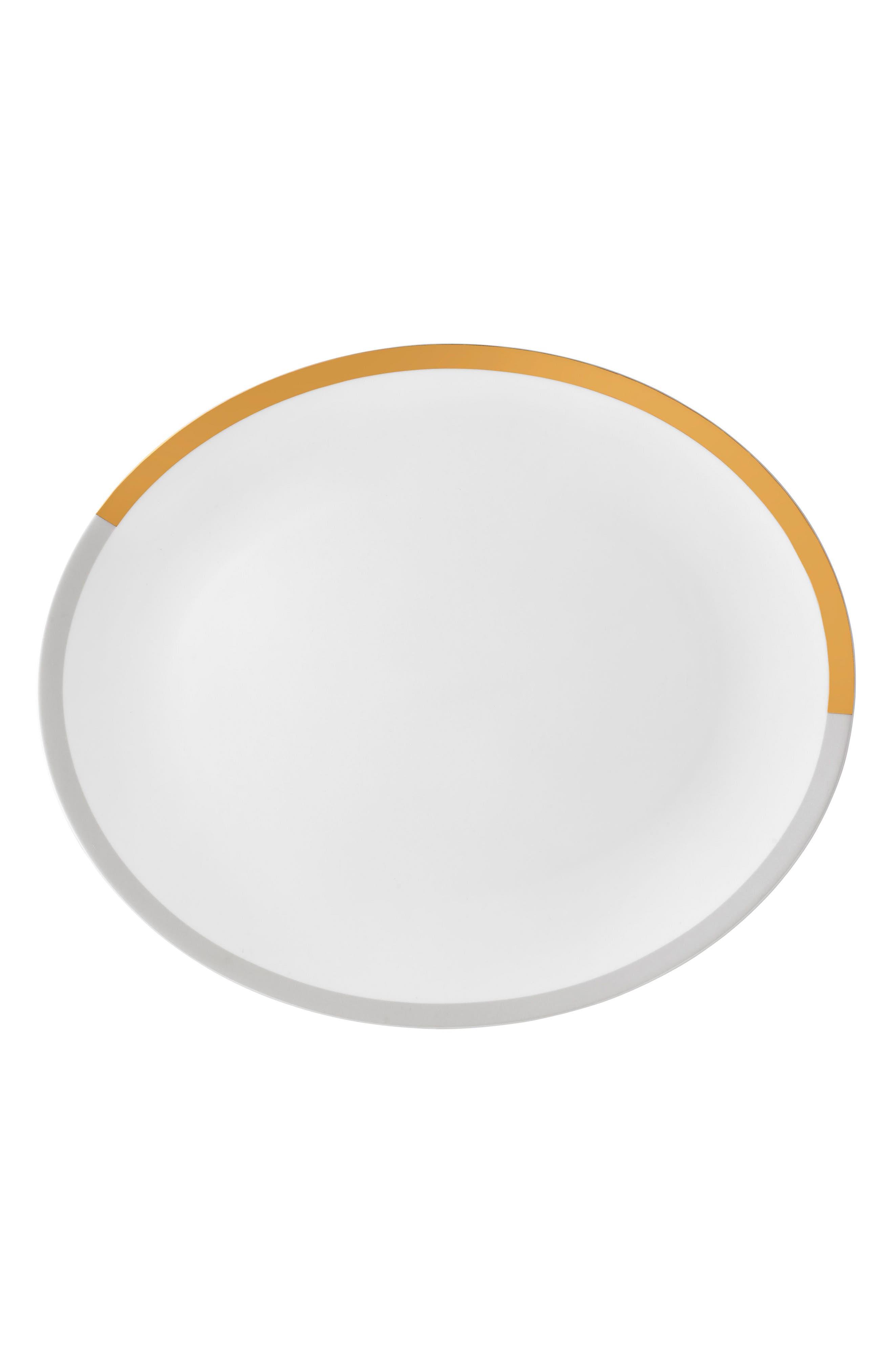 x Wedgwood Vera Castillon Bone China Oval Platter,                             Main thumbnail 1, color,