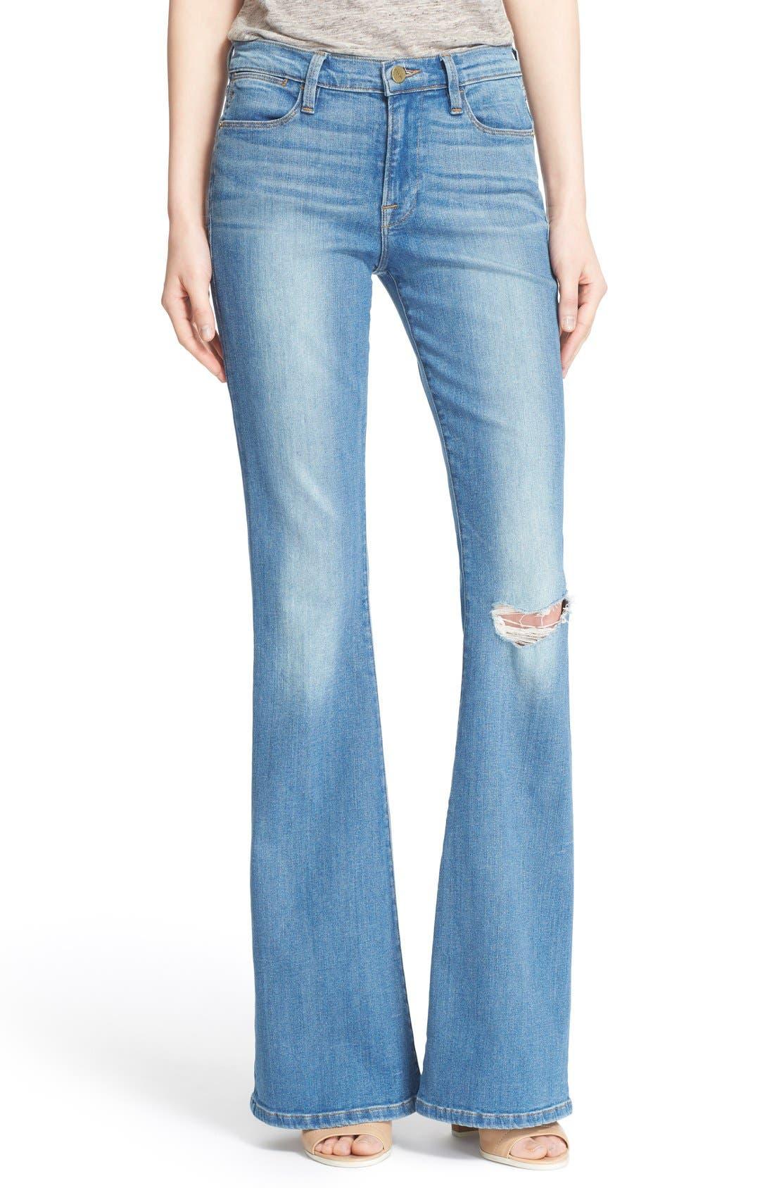 'Le High Flare' Jeans,                             Main thumbnail 6, color,