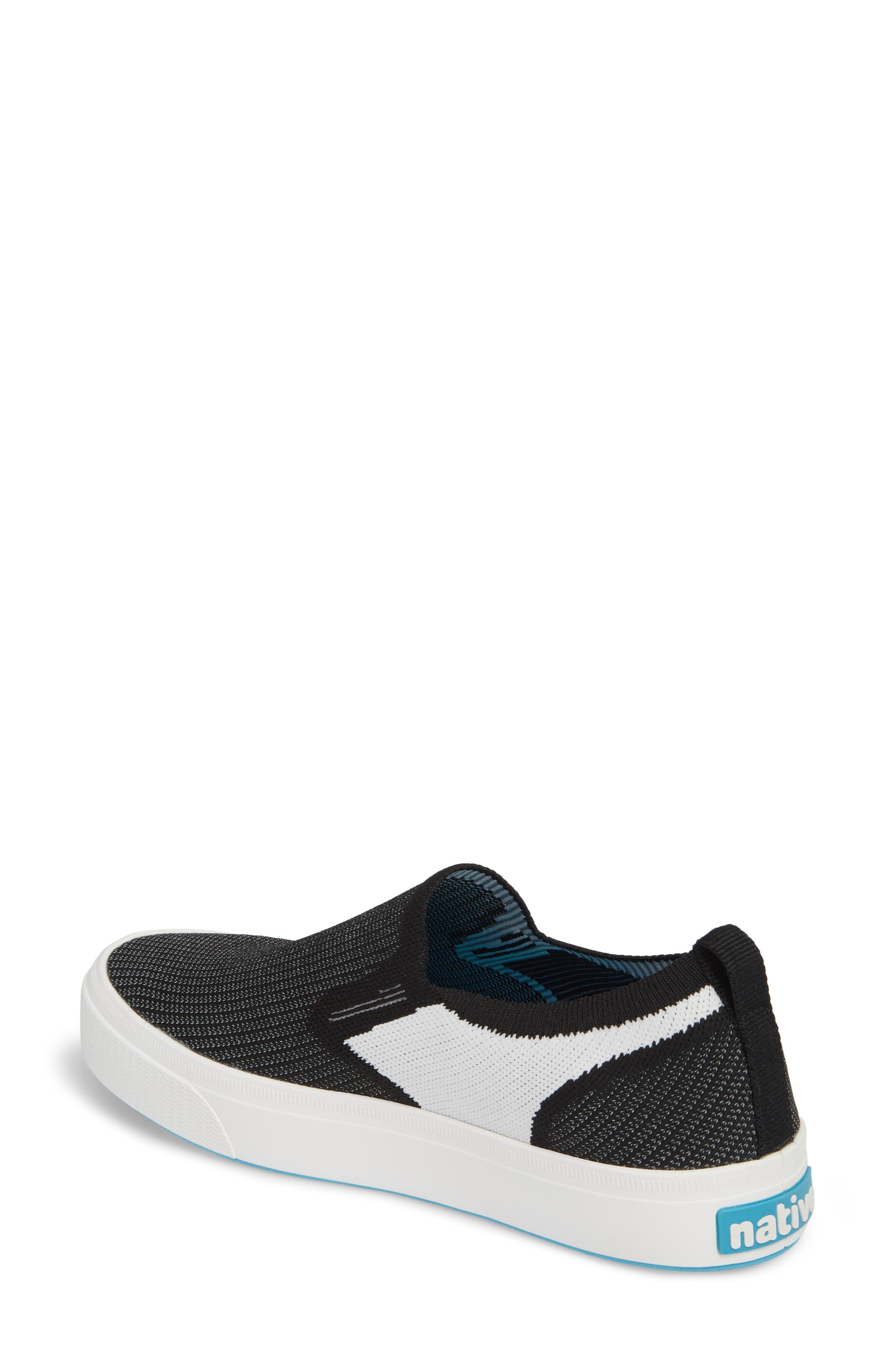 Miles Liteknit Slip-On Sneaker,                             Alternate thumbnail 2, color,                             JIFFY BLACK/ SHELL WHITE