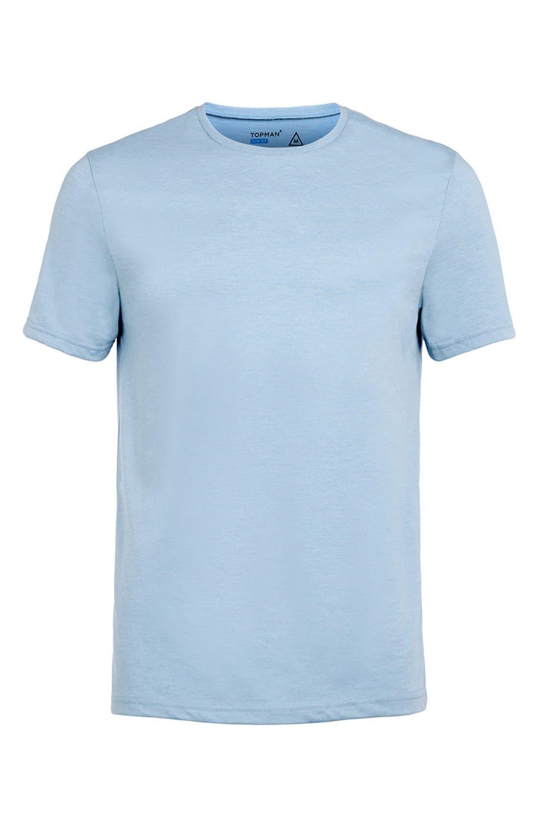 Slim Fit Crewneck T-Shirt,                             Alternate thumbnail 258, color,