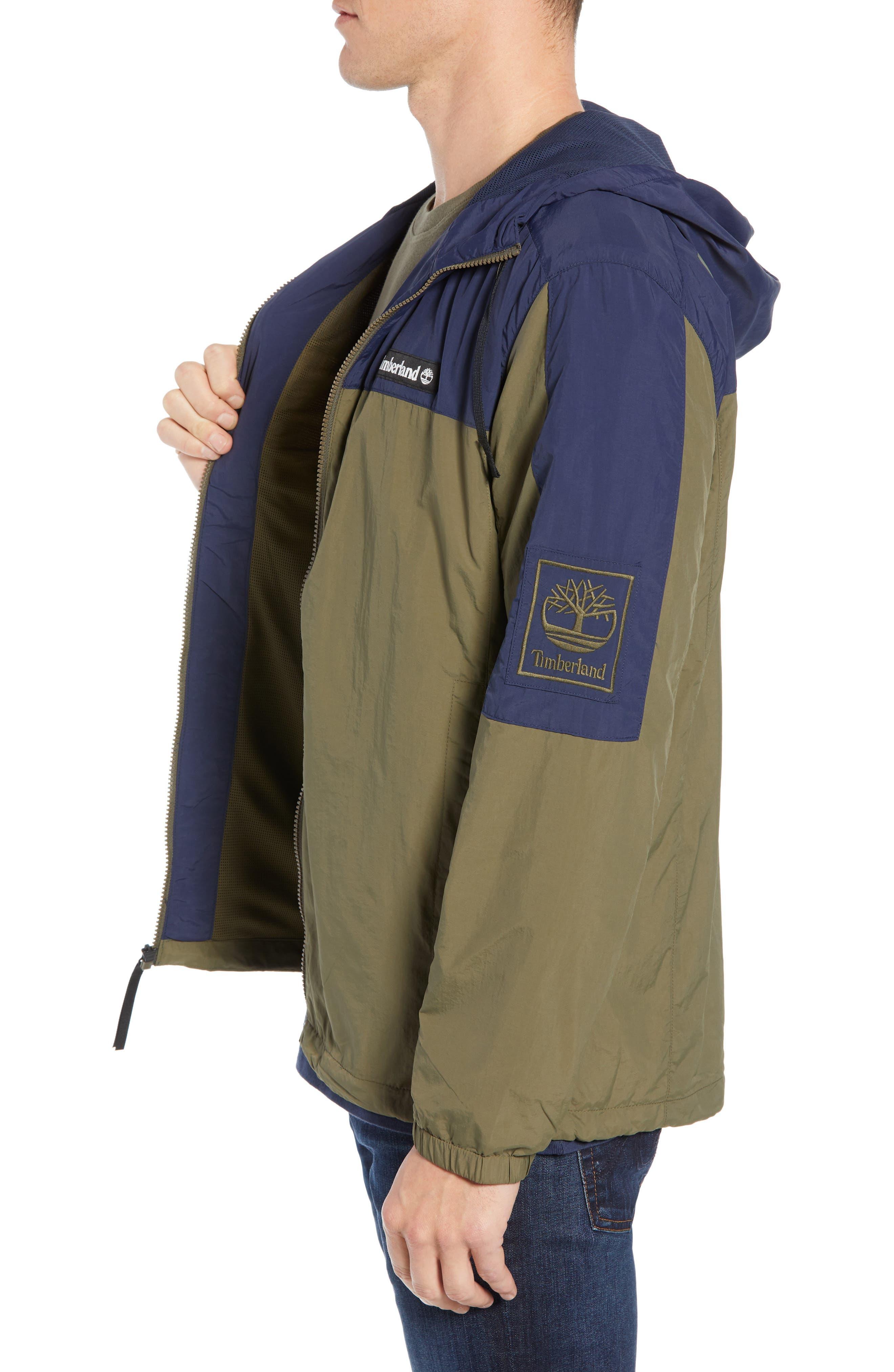 Windbreaker Hooded Jacket,                             Alternate thumbnail 3, color,                             GRAPE LEAF/ BLACK IRIS