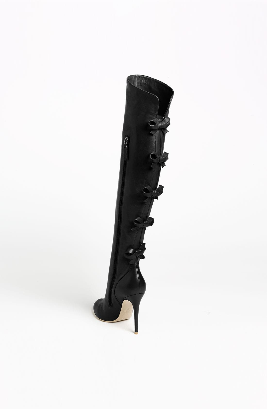 Bow Over the Knee Boot,                             Alternate thumbnail 4, color,                             001