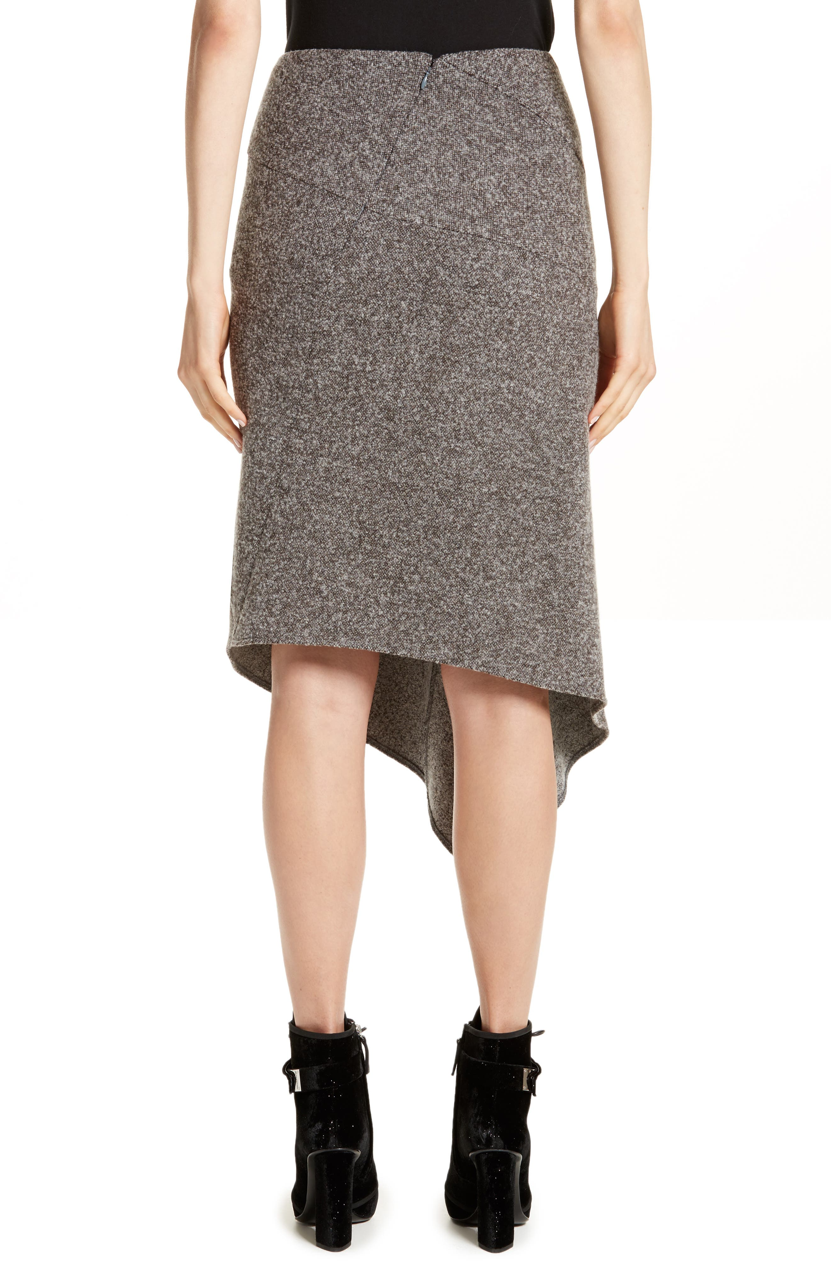 Galaxy Tweed Asymmetrical Skirt,                             Alternate thumbnail 2, color,