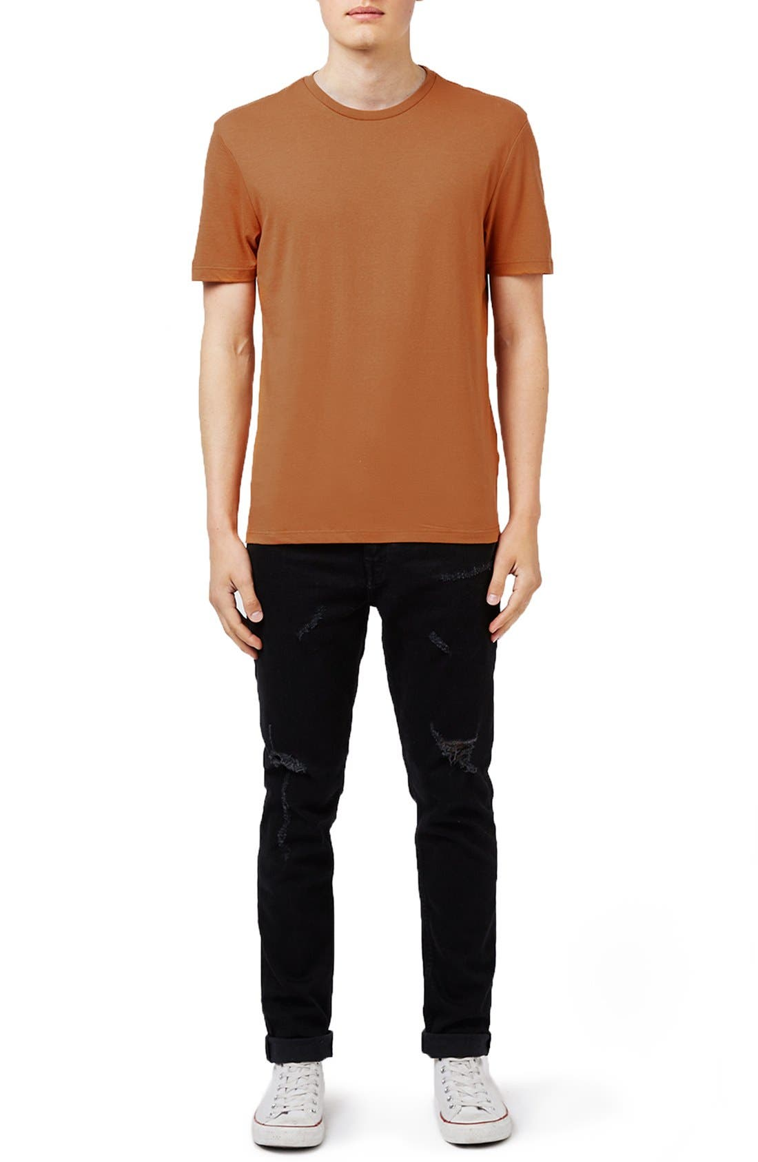 Slim Fit Crewneck T-Shirt,                             Alternate thumbnail 327, color,
