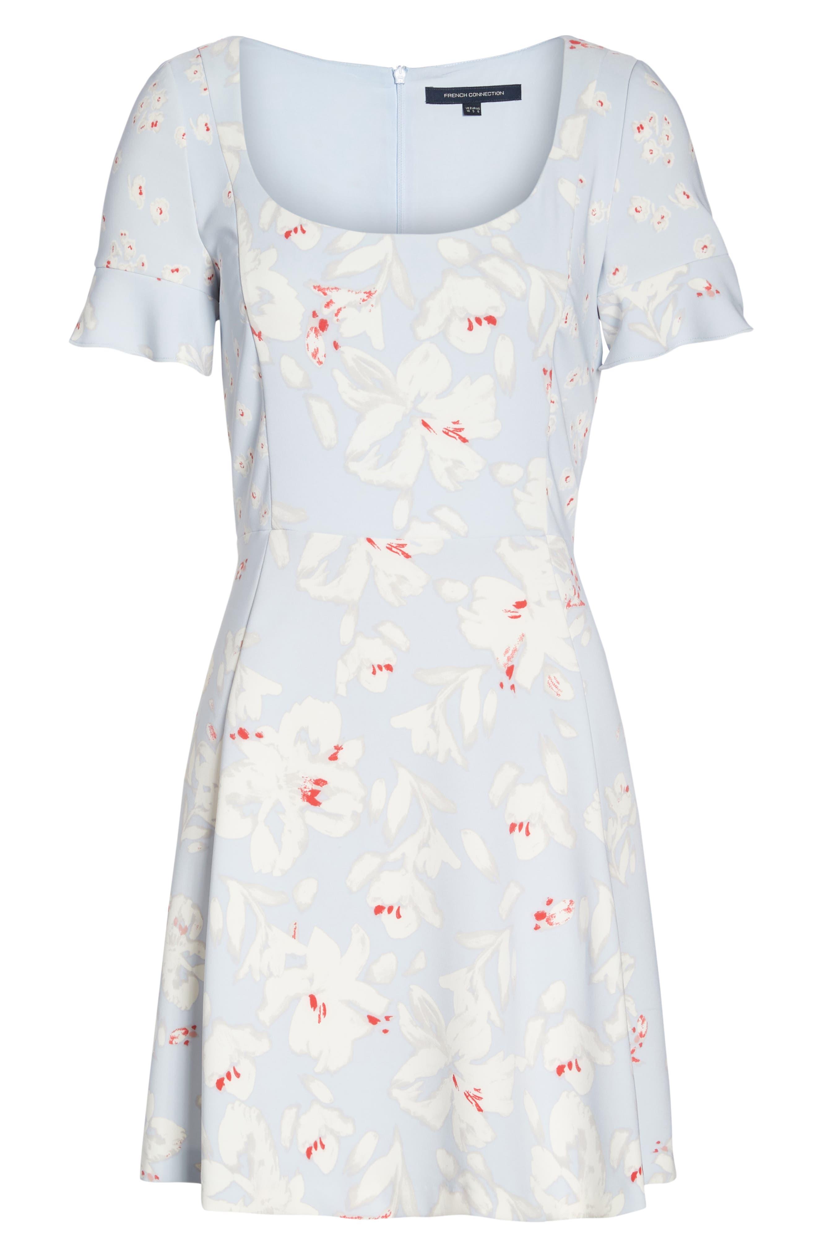 Alba Scoop Neck A-Line Dress,                             Alternate thumbnail 7, color,                             450