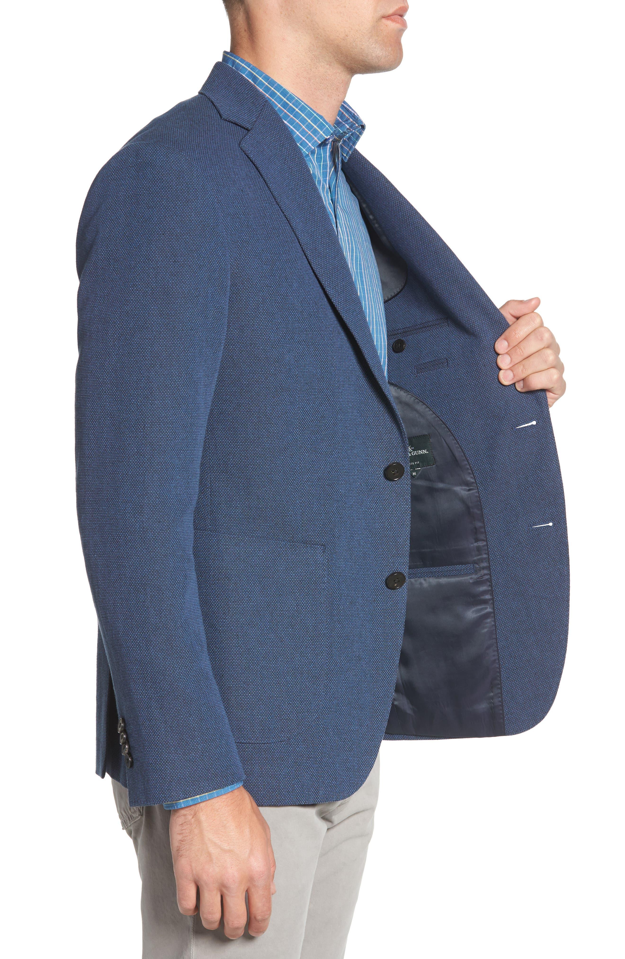 Point Break Sport Fit Cotton & Linen Blazer,                             Alternate thumbnail 3, color,                             432