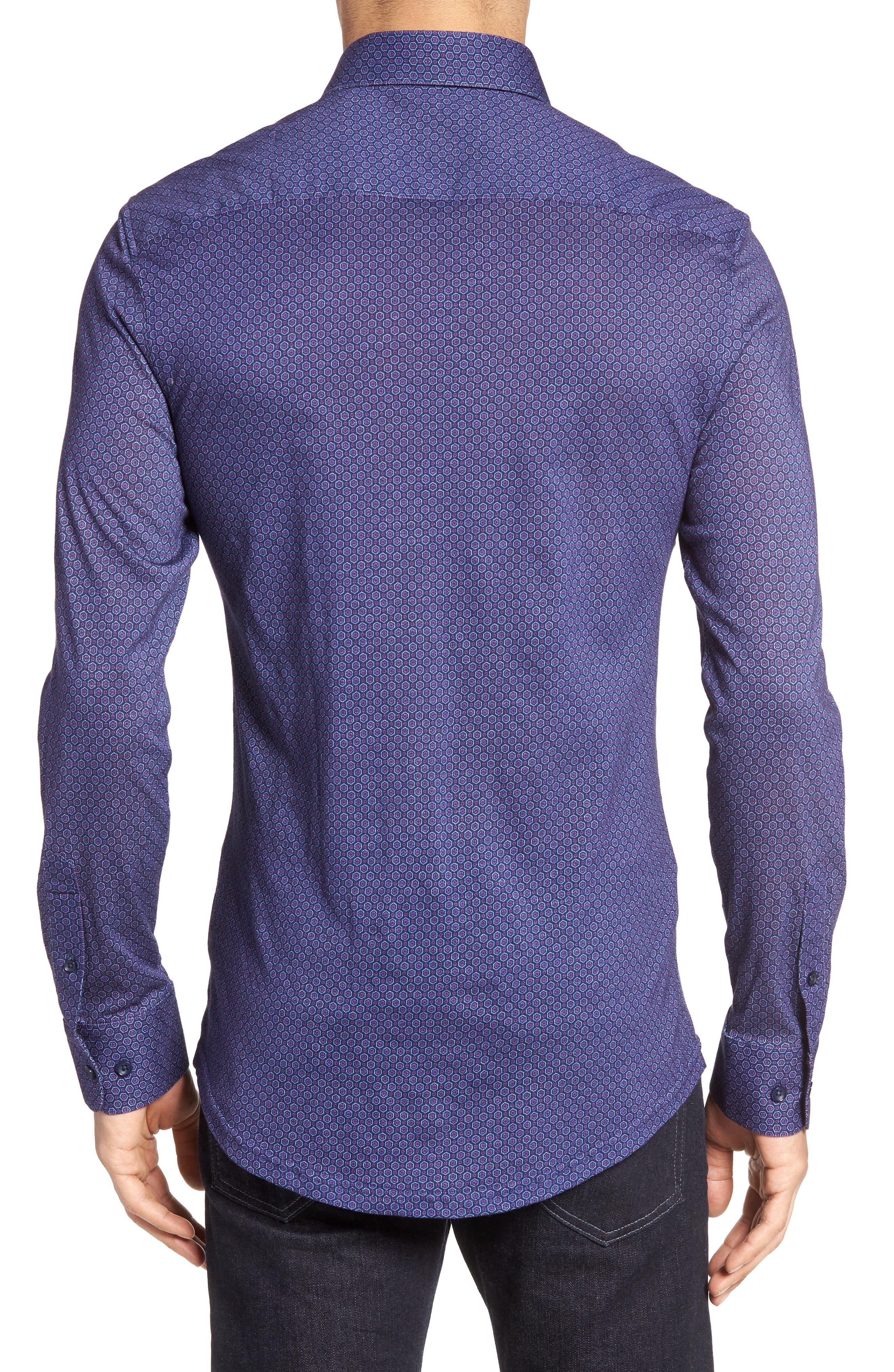 Honeycomb Geo Sport Shirt,                             Alternate thumbnail 2, color,                             410