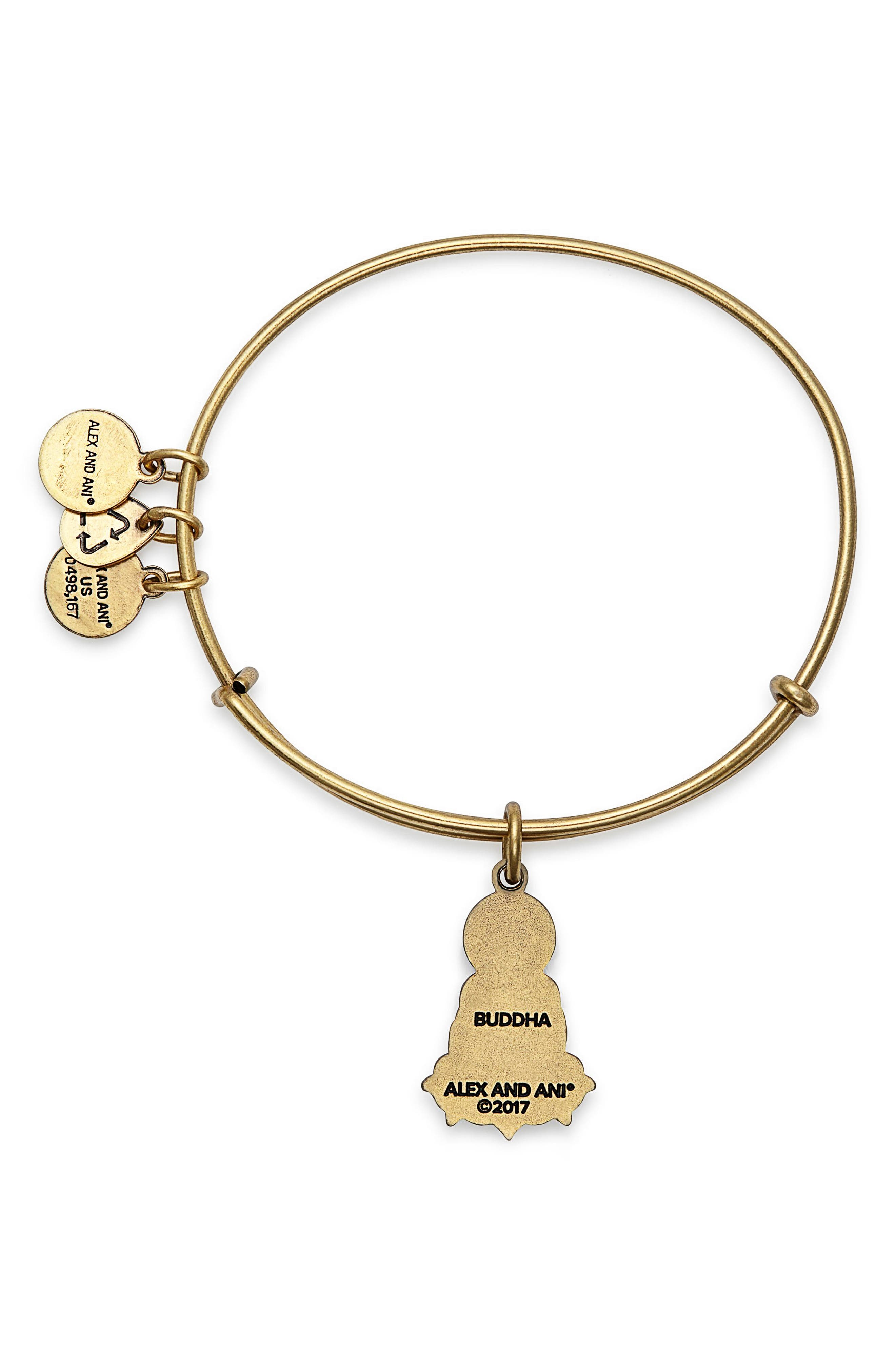 Buddha Adjustable Wire Bangle,                             Alternate thumbnail 2, color,                             RUSSIAN GOLD