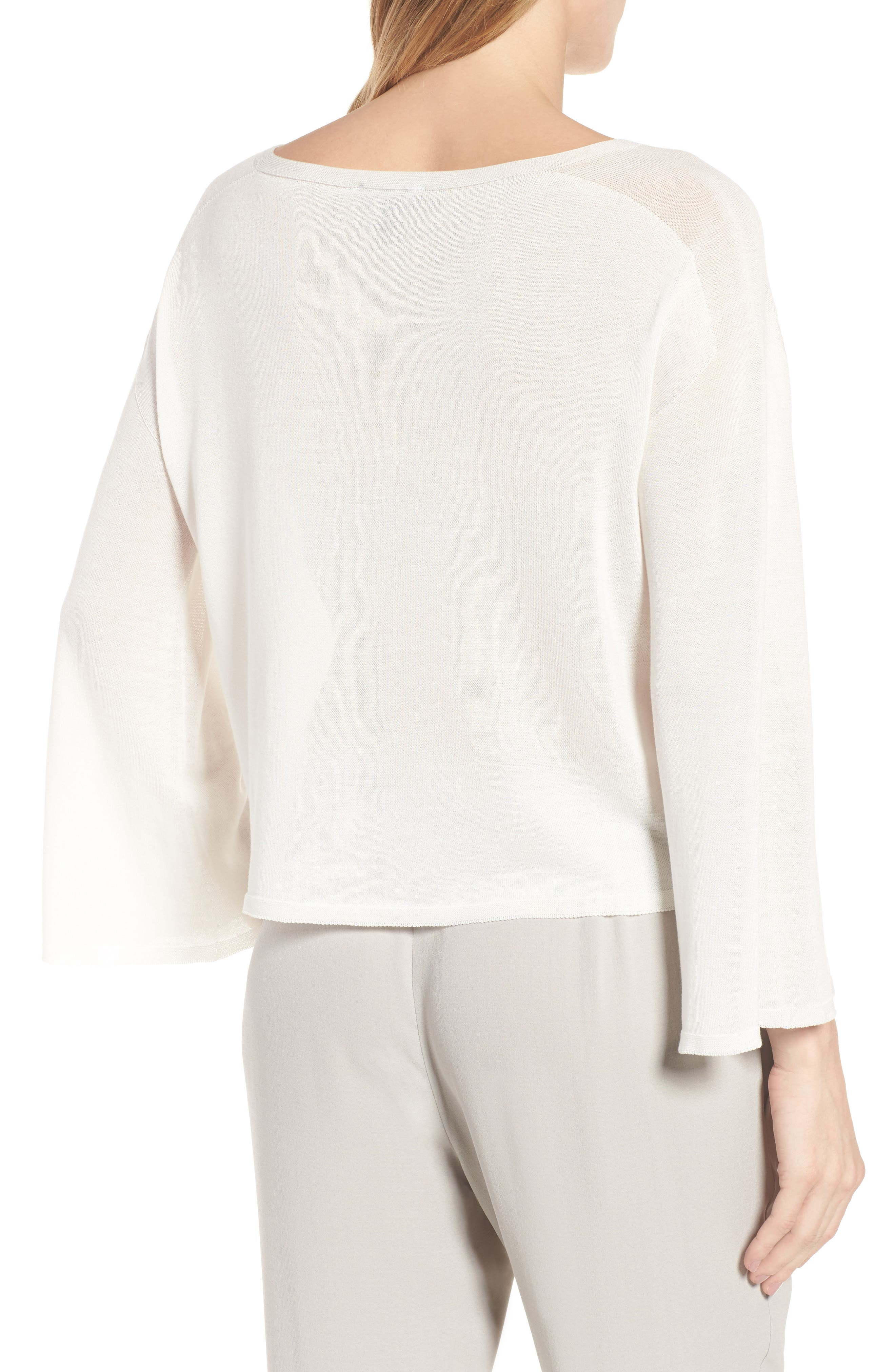 Tencel<sup>®</sup> Lyocell Knit Sweater,                             Alternate thumbnail 5, color,
