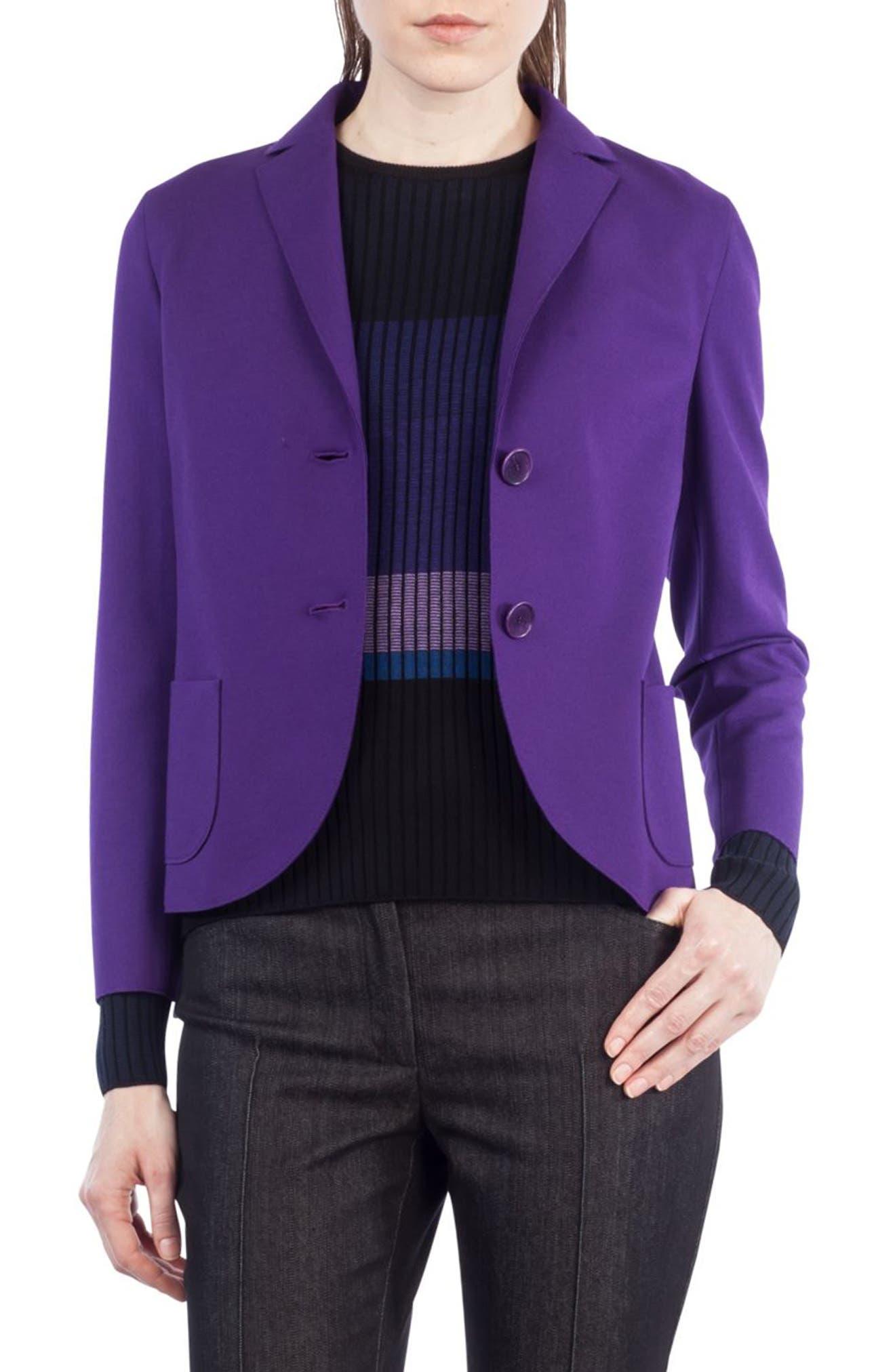Crop Jersey Blazer,                         Main,                         color, 400