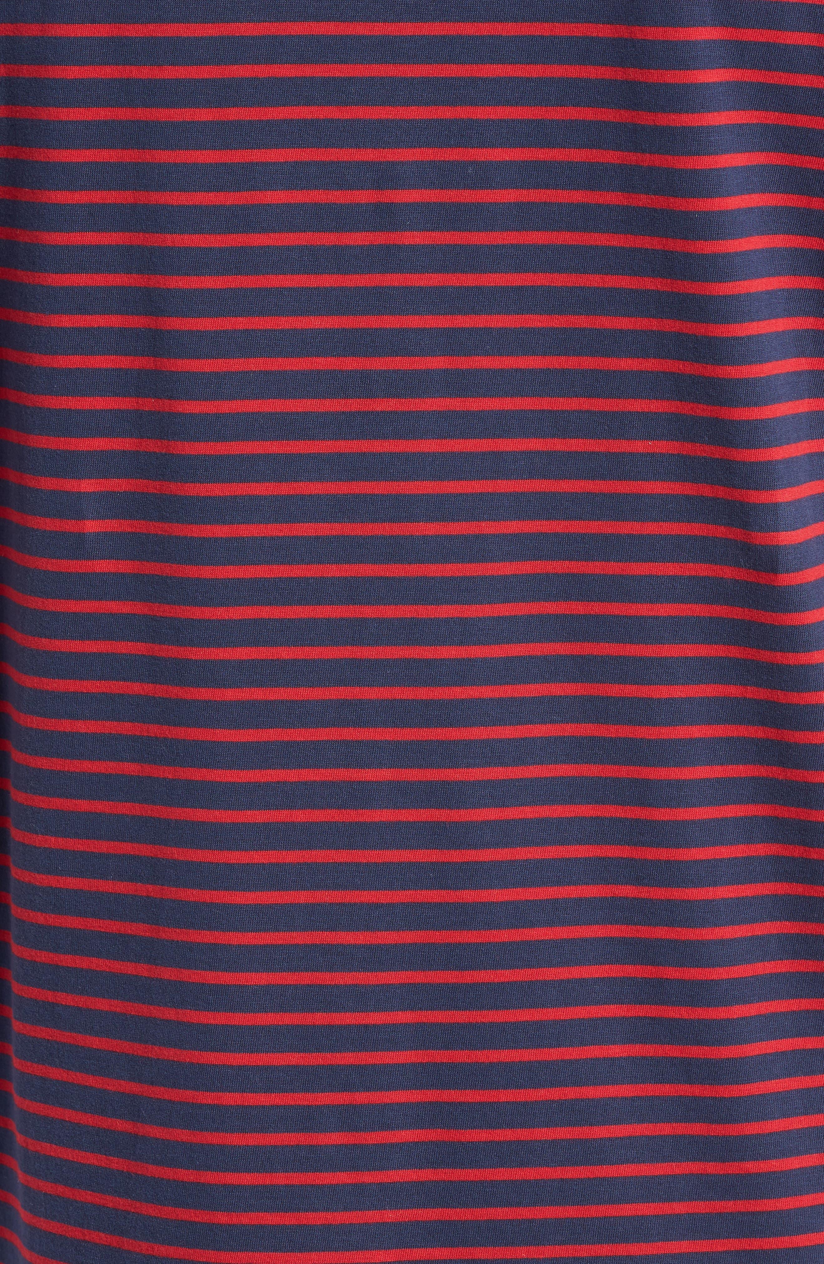 Stripe Brushed Pima Cotton T-Shirt,                             Alternate thumbnail 15, color,