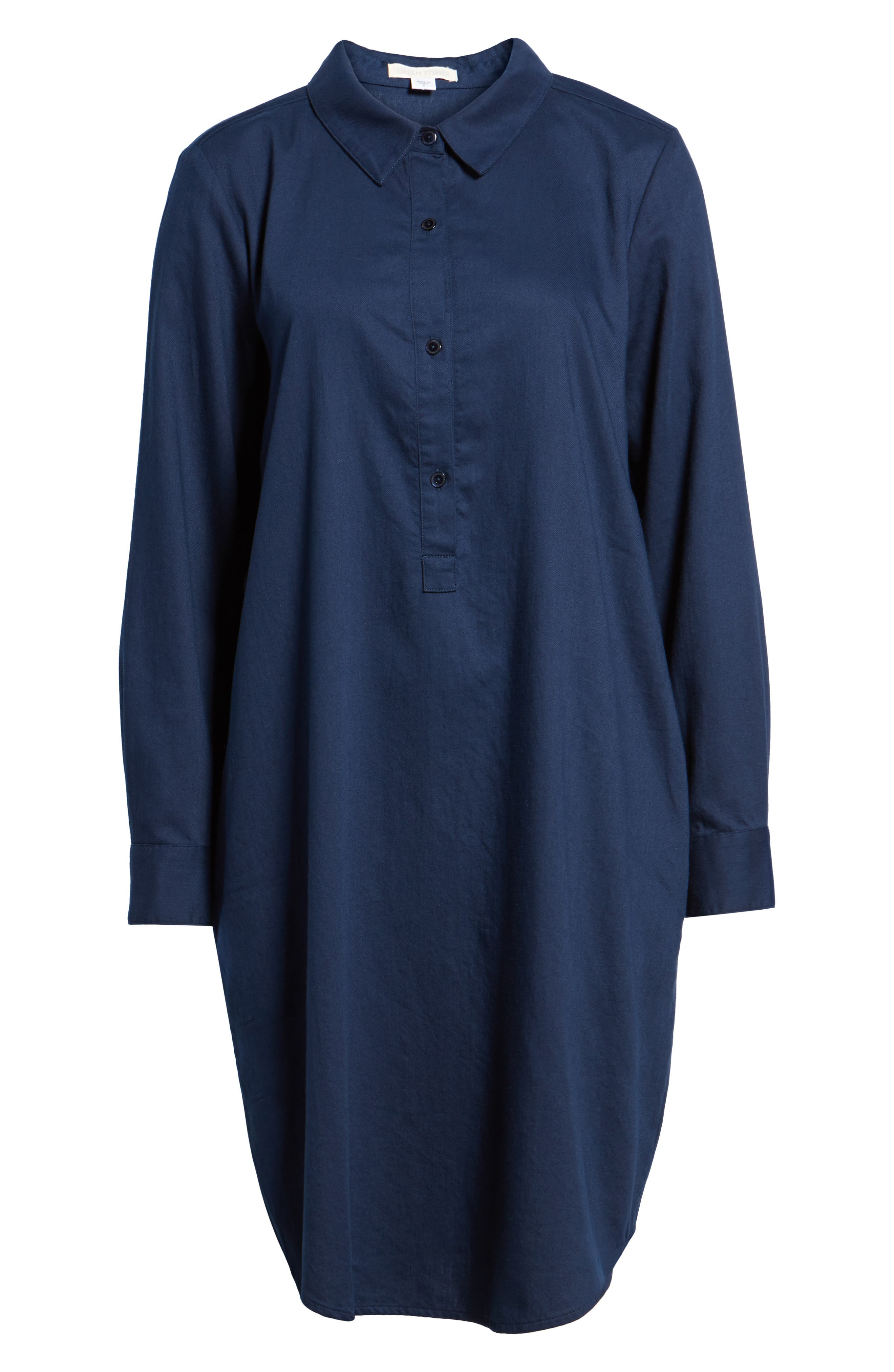Cotton Twill Shirtdress,                             Alternate thumbnail 6, color,                             419