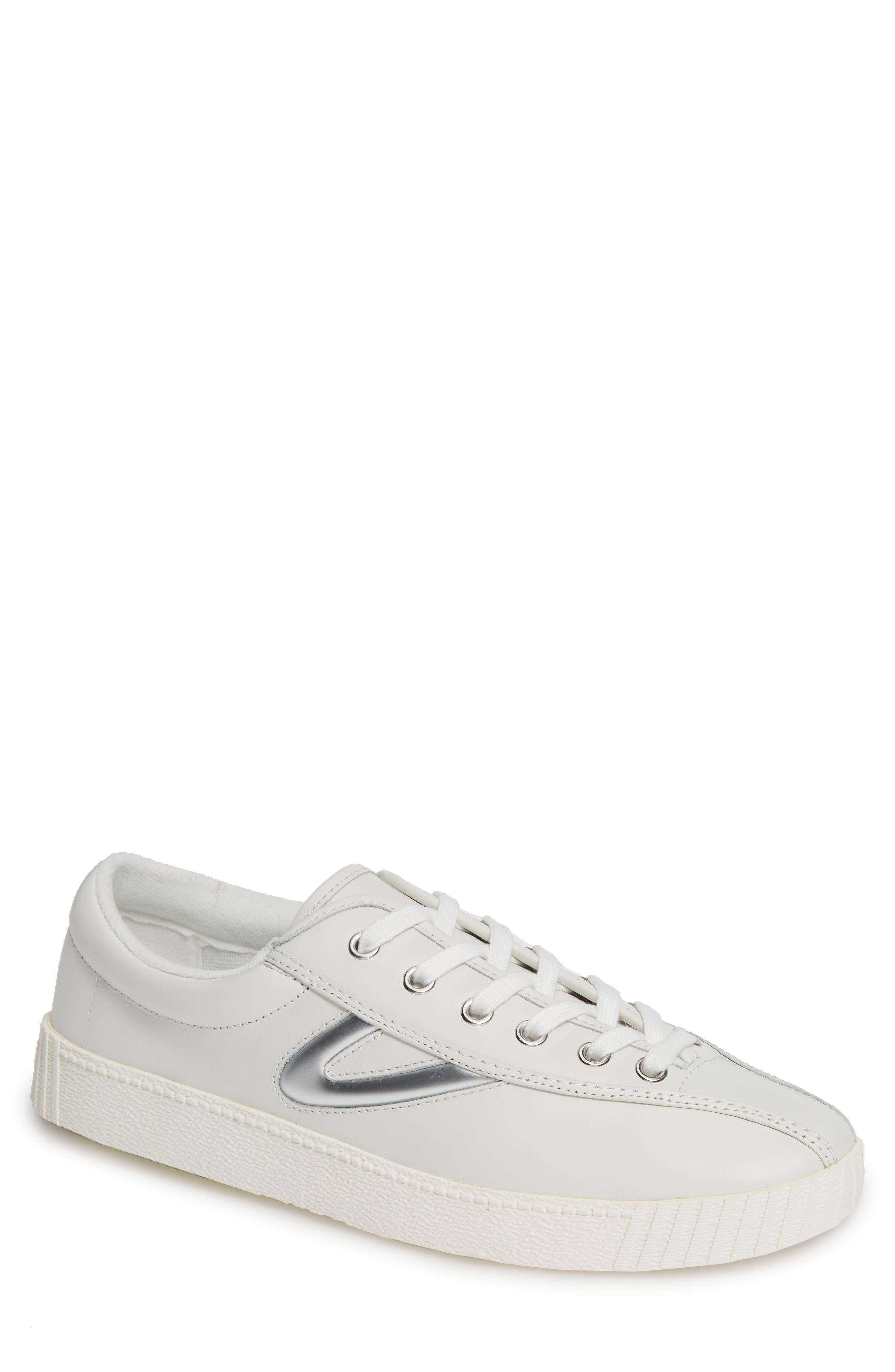 TRETORN Men'S Nylite 29 Plus Leather Sneakers in White