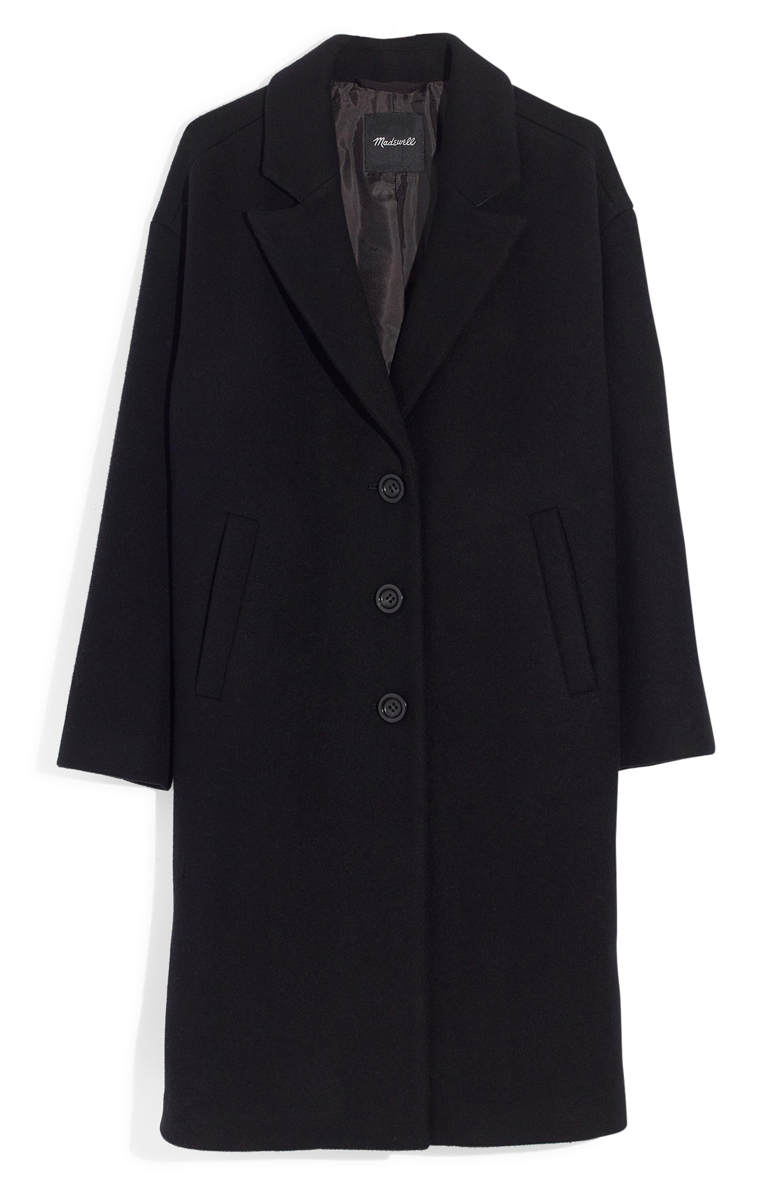 Bergen Cocoon Coat,                             Alternate thumbnail 6, color,                             TRUE BLACK