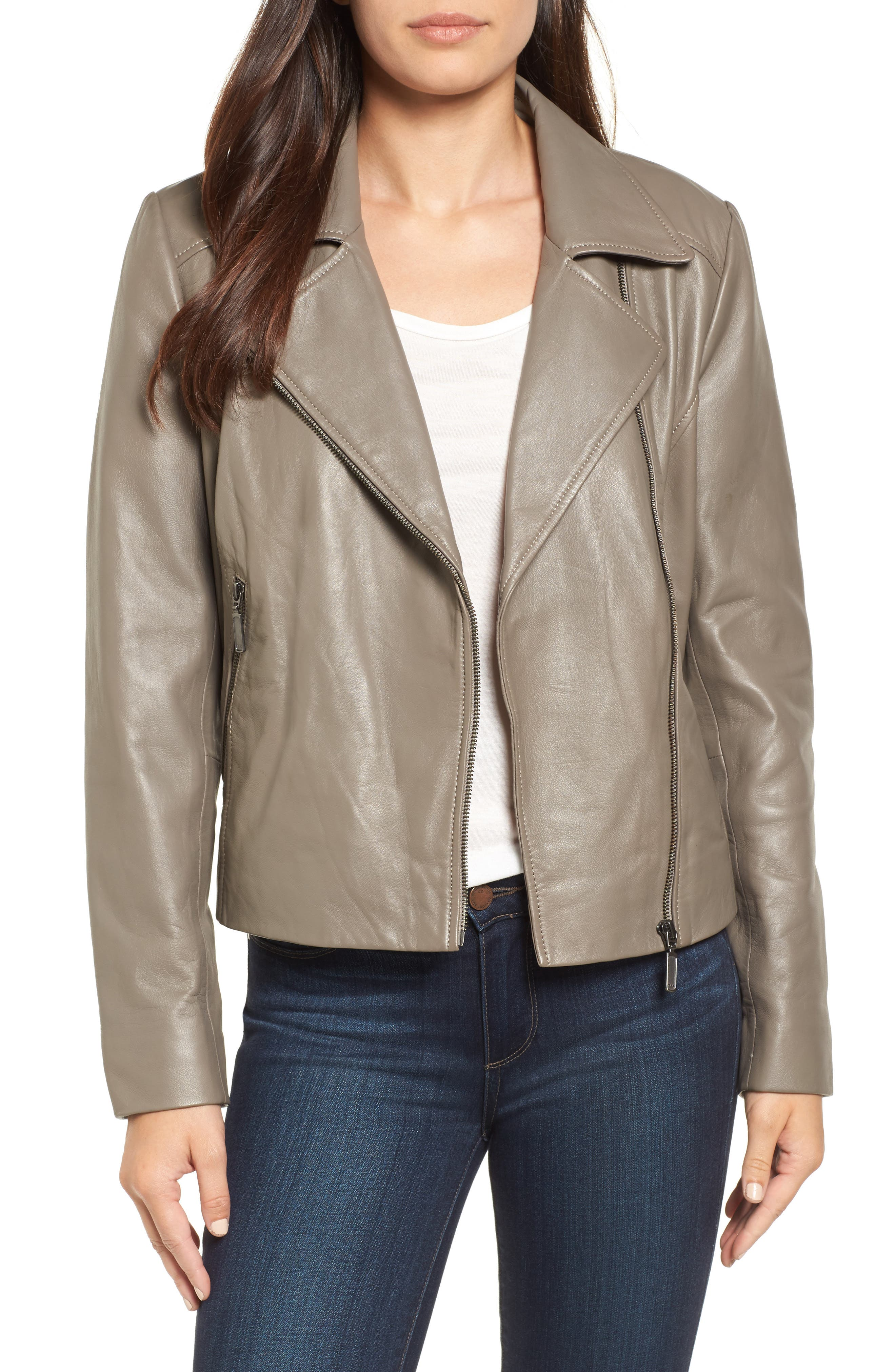 Leather Moto Jacket,                             Main thumbnail 1, color,