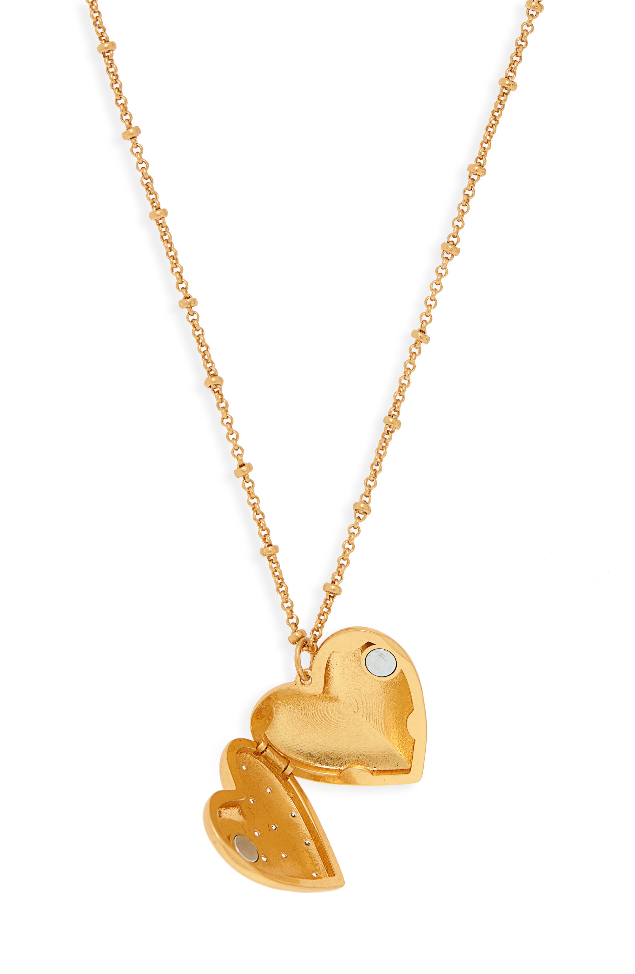 my precious heart locket necklace,                             Alternate thumbnail 2, color,                             CLEAR/ GOLD
