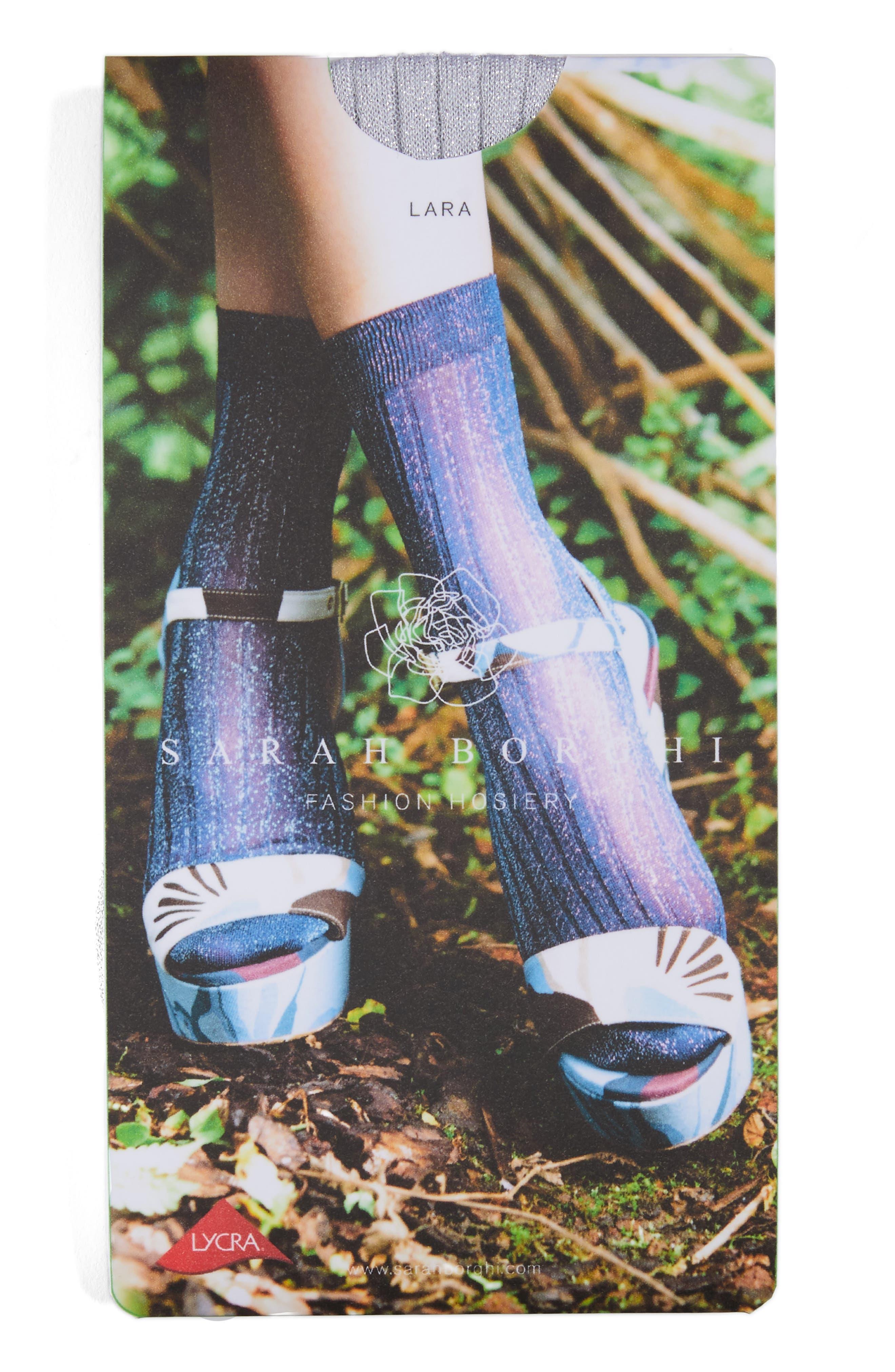 Costina Metallic Ankle Socks,                             Alternate thumbnail 2, color,                             040